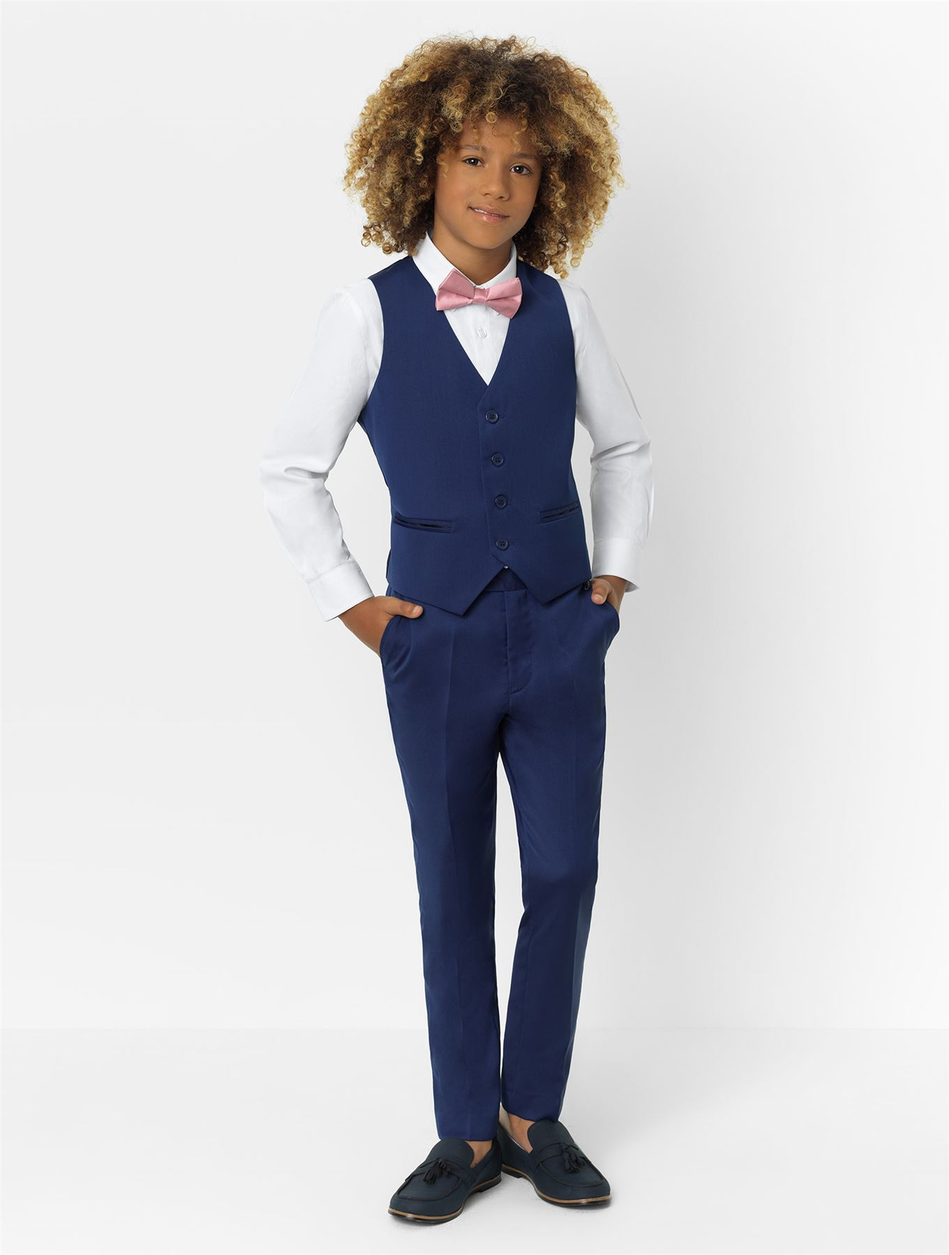 Modern-Fit Tuxedo 1-14 Years Boys Black Three-Piece Prom Suit Roco