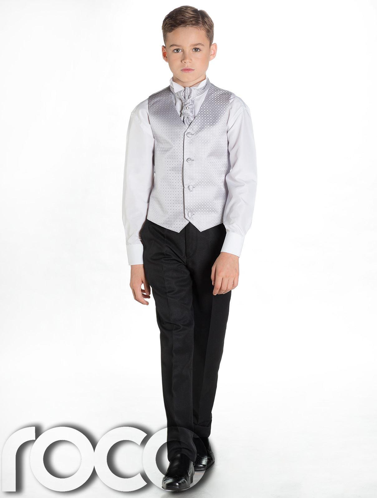 Boys Waistcoat Suit, Boys Wedding Suits, Page Boy Suits, Black ...