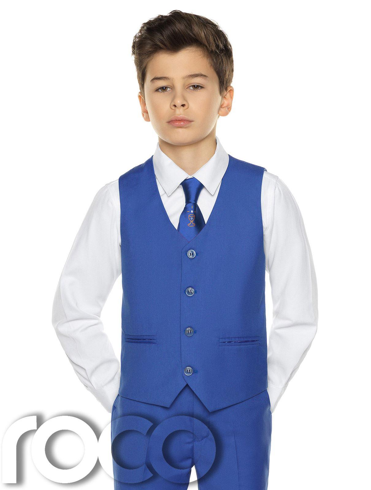 Garcons-Costume-Bleu-Communion-Costume-Bleu-Communion-Costume miniature 7