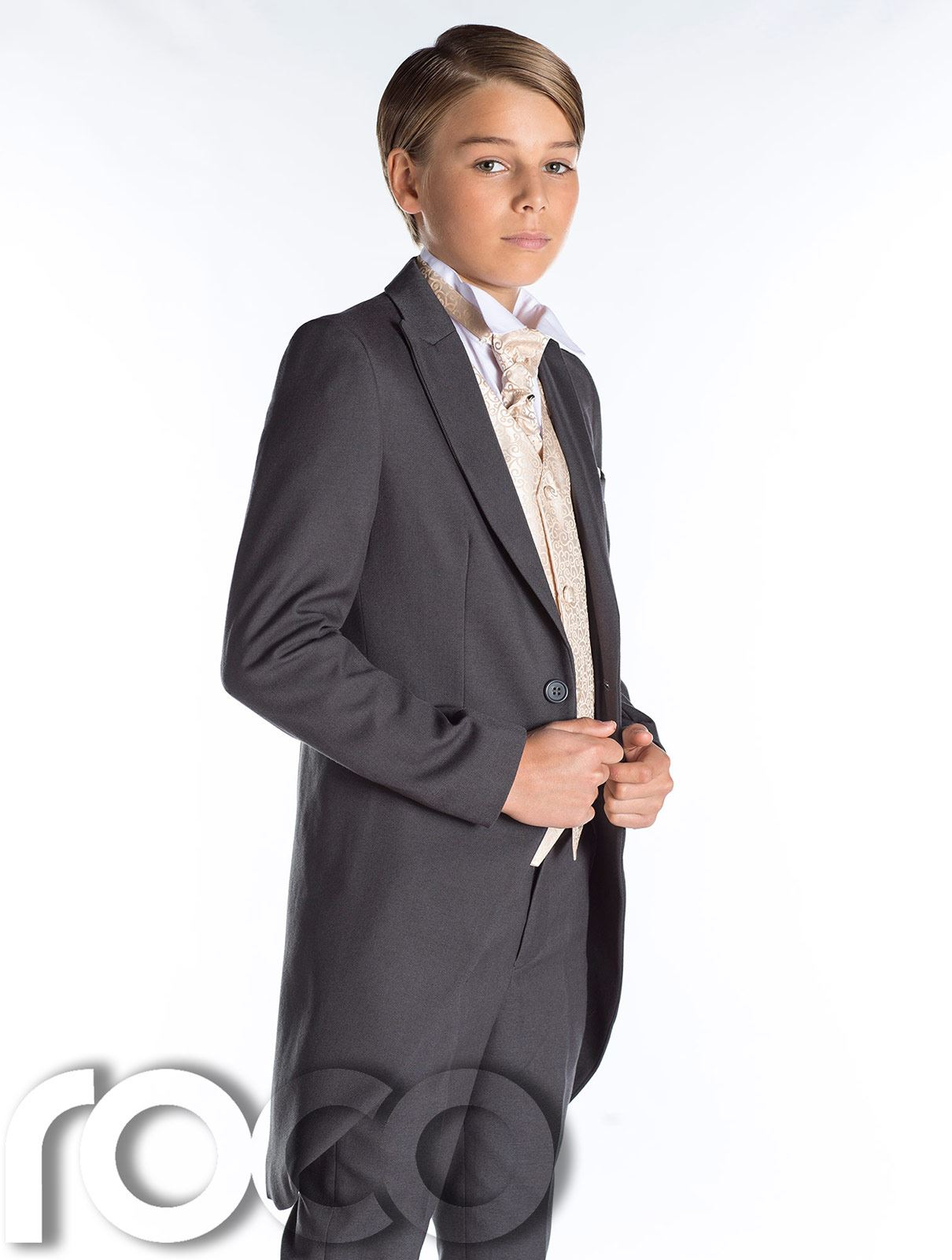 Grey Tail Suit, Boys Wedding Outfits, Prom Suit, Page Boy Suit, Boys ...
