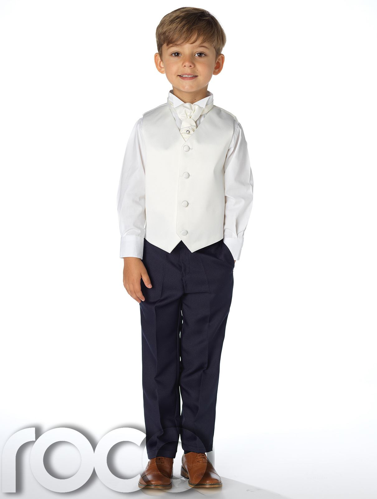 Boys Waistcoat Suit, Page Boys Suits, Boys Wedding Suit, Navy ...