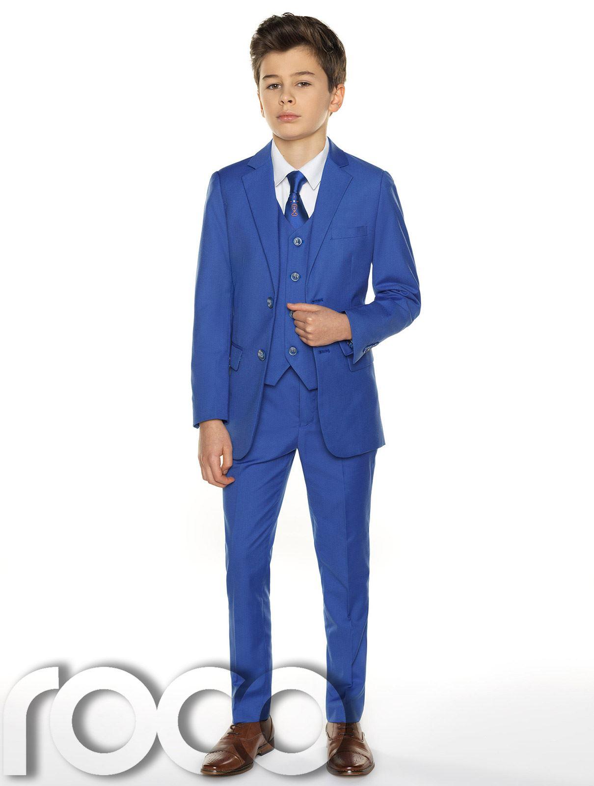 Garcons-Costume-Bleu-Communion-Costume-Bleu-Communion-Costume miniature 6