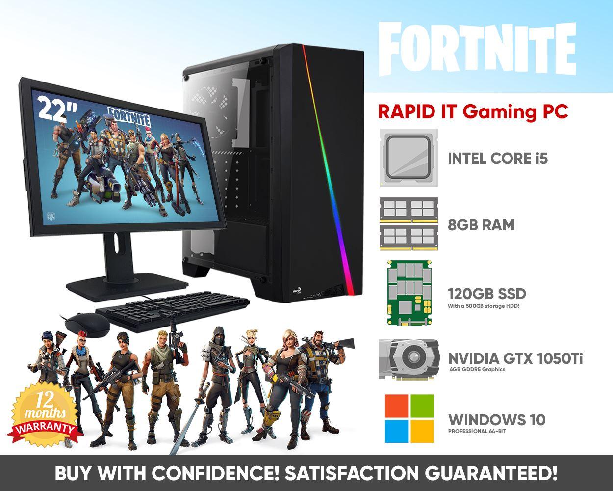FAST FORTNITE RGB Gaming PC & 22