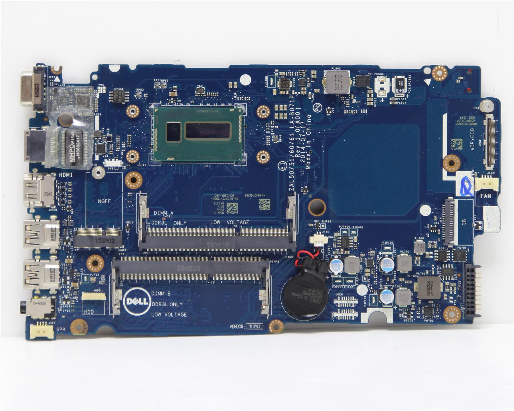 0CW5N0 Dell Inspiron 15 17-5748 5749 Intel Motherboard i3-5005U 2.0GHz//2 Cores