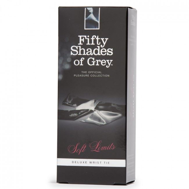 Discreet P/&P Fifty Shades of Grey Soft Limits Satin Delux Wrist Tie OFFICIAL