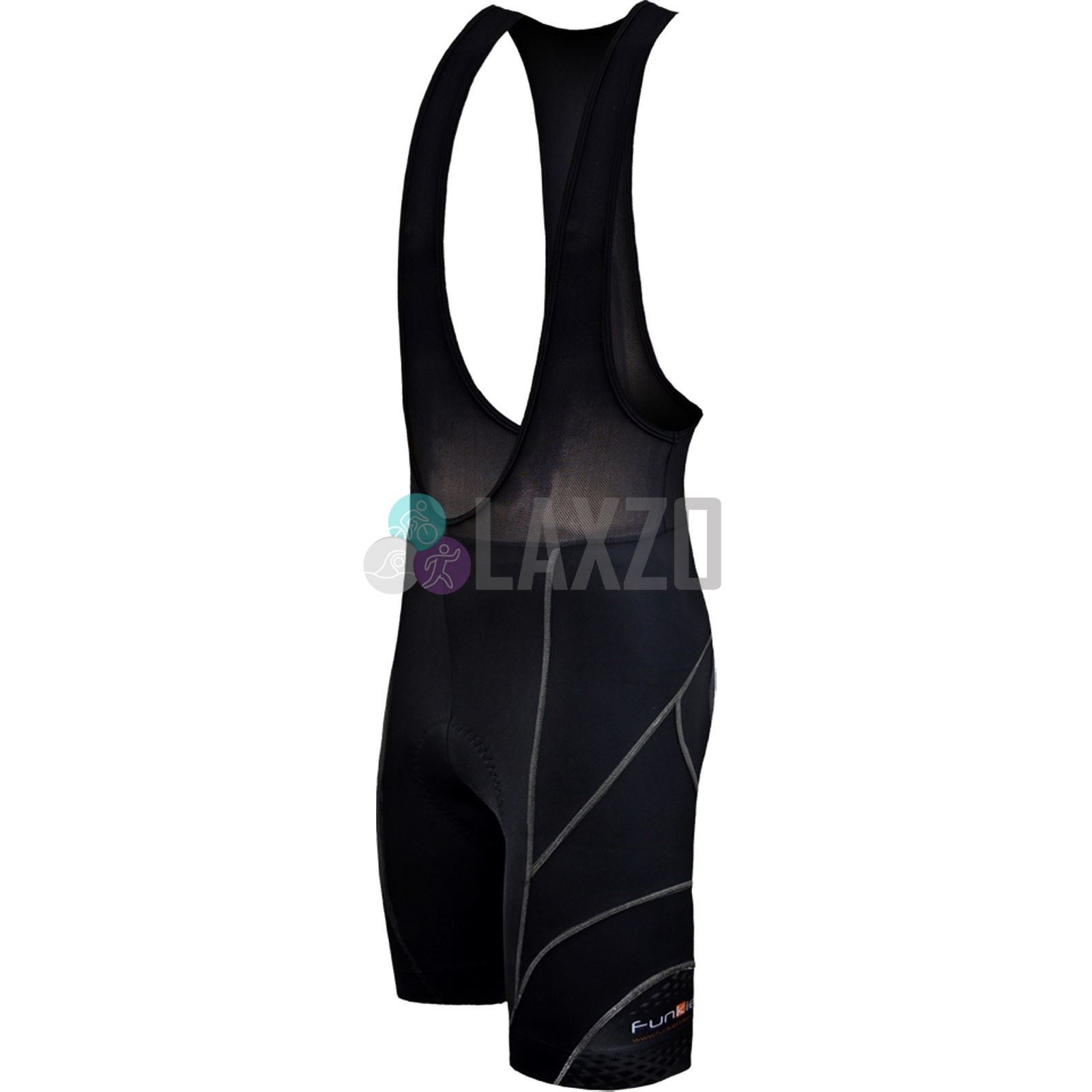 Funkier Force S-922-C7 Active 17 Panel Bib Shorts in Black Large