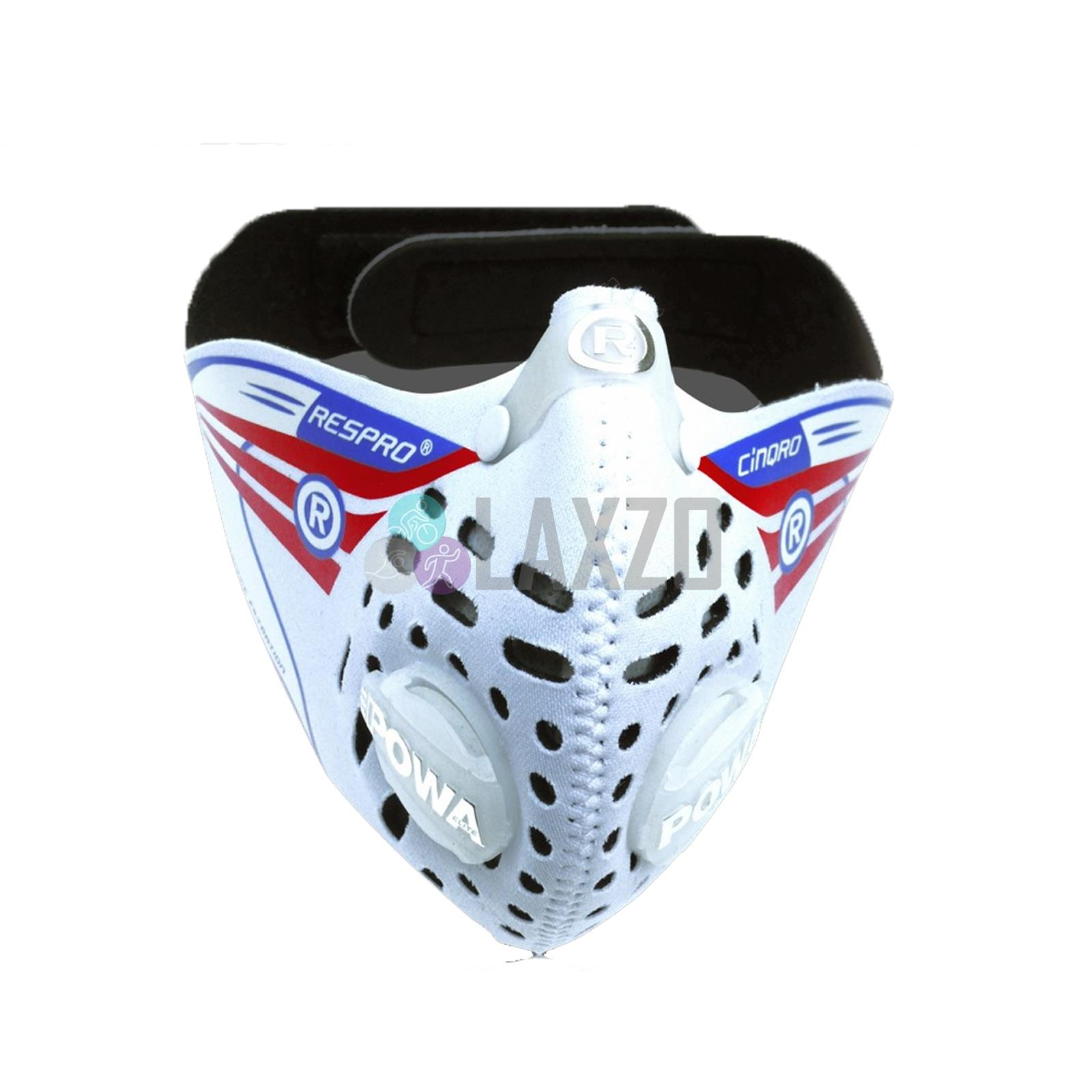 masque velo anti pollution blanc