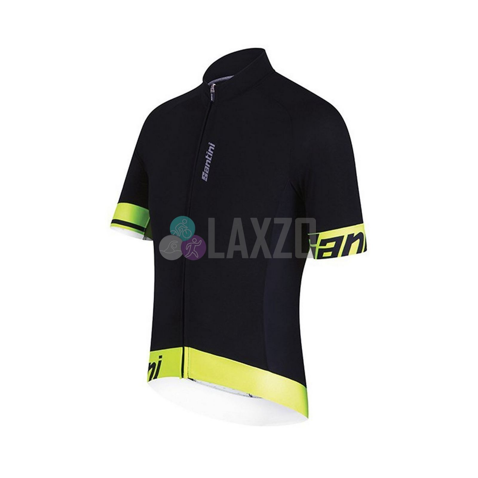 Details about Cycling Jersey Short Sleeve Santini Sleek 2.0 Aero Yellow  Medium Full Zip bf6b54e010