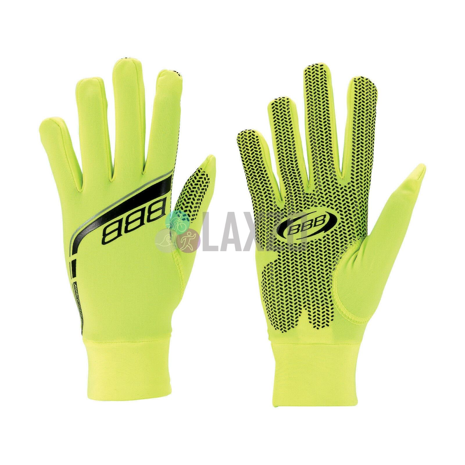 BBB RACE SHIELD WINTER cycling Gloves Warm Safe Bike Cycle NEON YELLOW Large