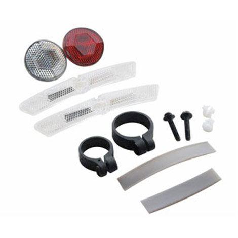 Bike Light Cateye Bicycle Reflector Kit Front Rear Wheels Head Tail Reflectors