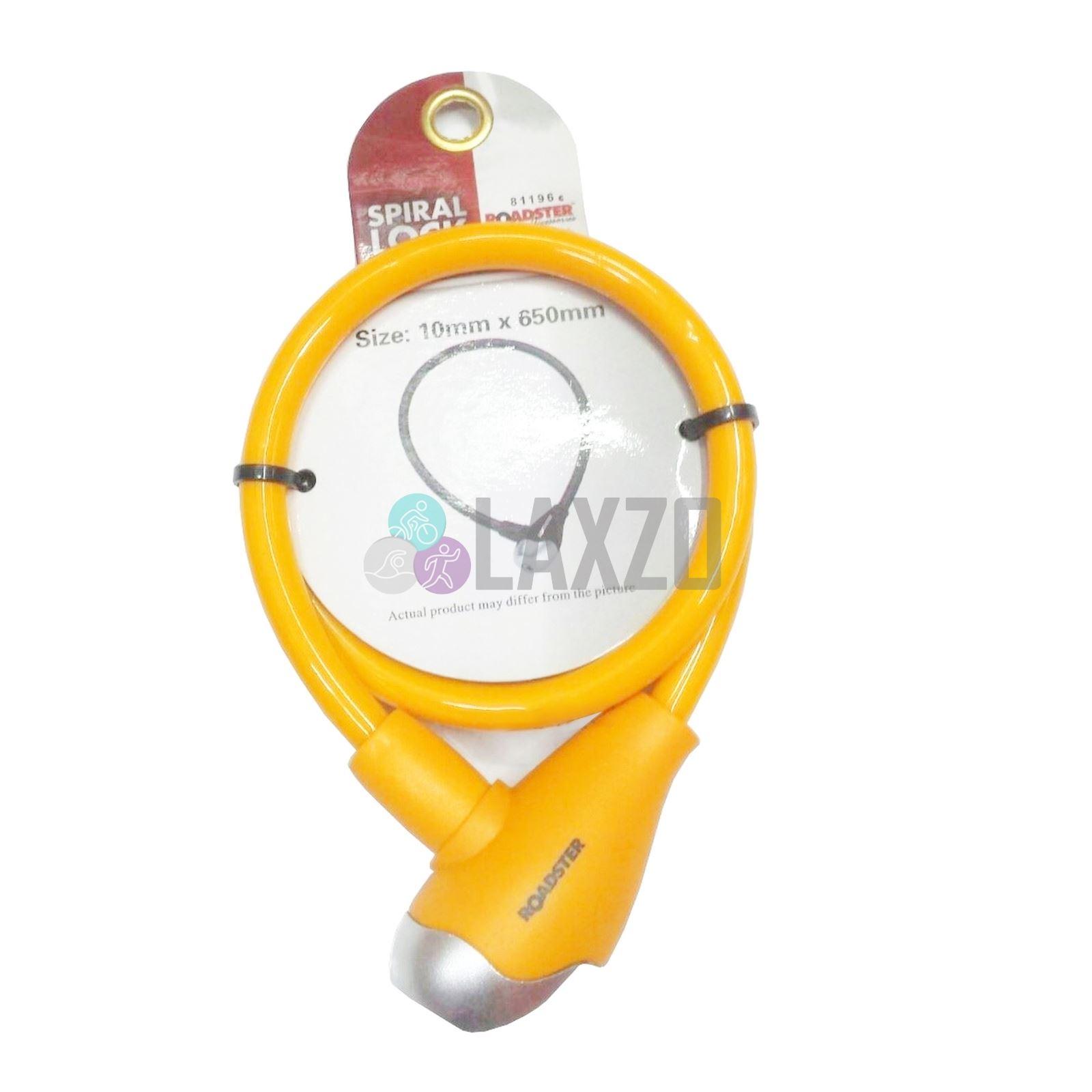 Bike Spiral 2 Key Lock Bike Steel Cable Chain Keylock 7mm x 650mm Bicycle