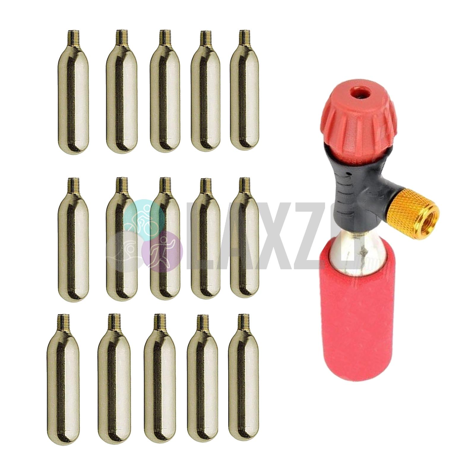 CO2 Bicycle Inflator pump 5 Gas Cartridge inc 16g threaded cycling bike puncture