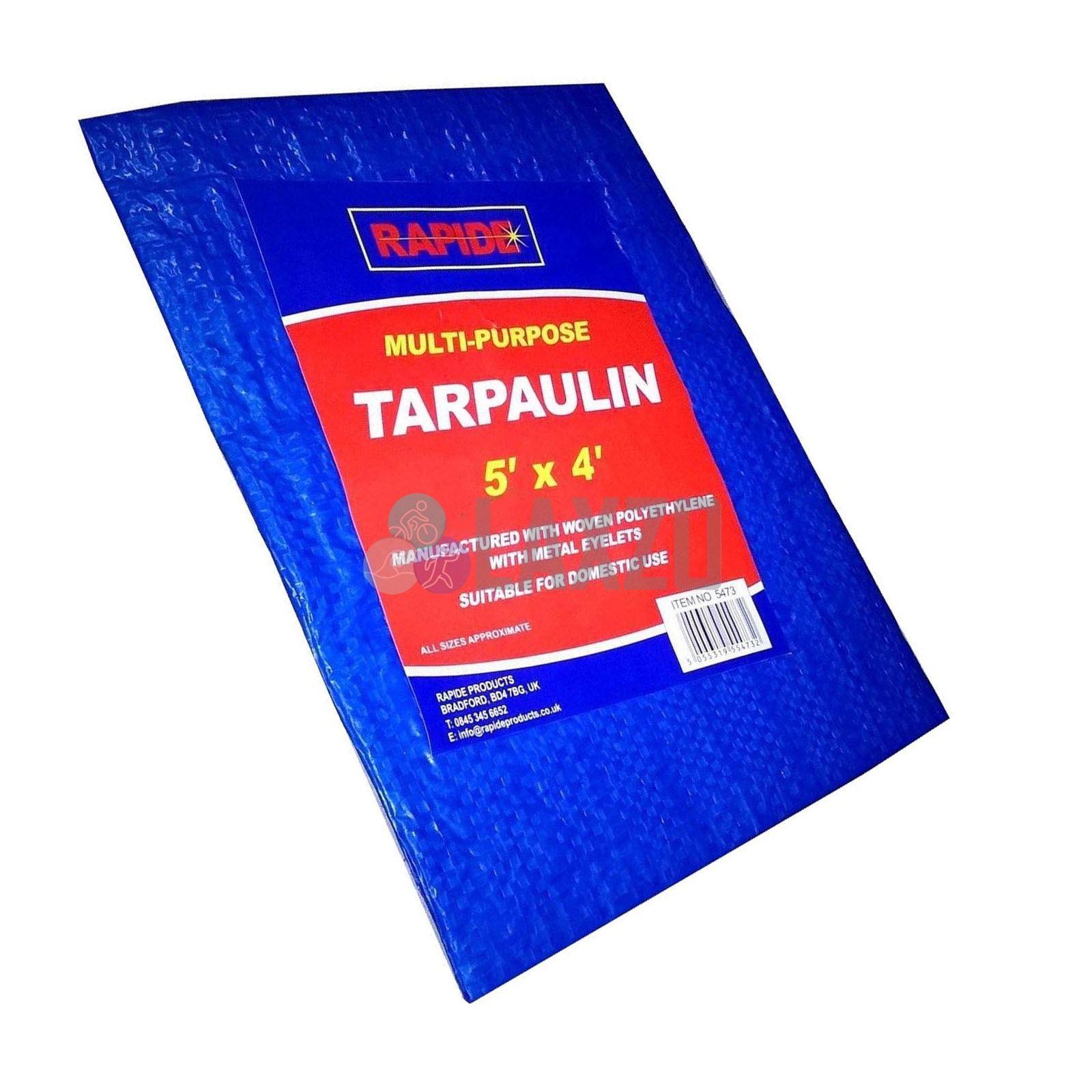 Multi-Purpose Waterproof Tarpaulin Ground Sheet Tarp Strong Tear Proof Car Cover