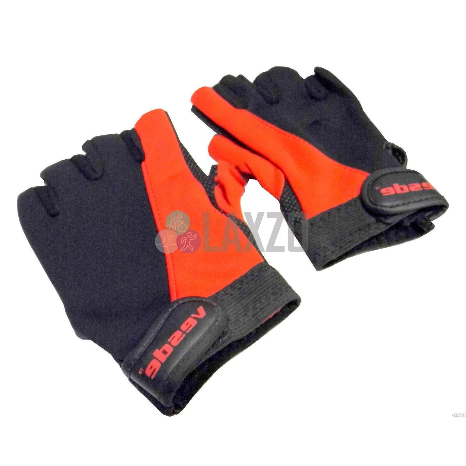 Bicycle Cycling Gym Gloves Mitts Half Finger Dotted Gel Grip One Size Grey Black