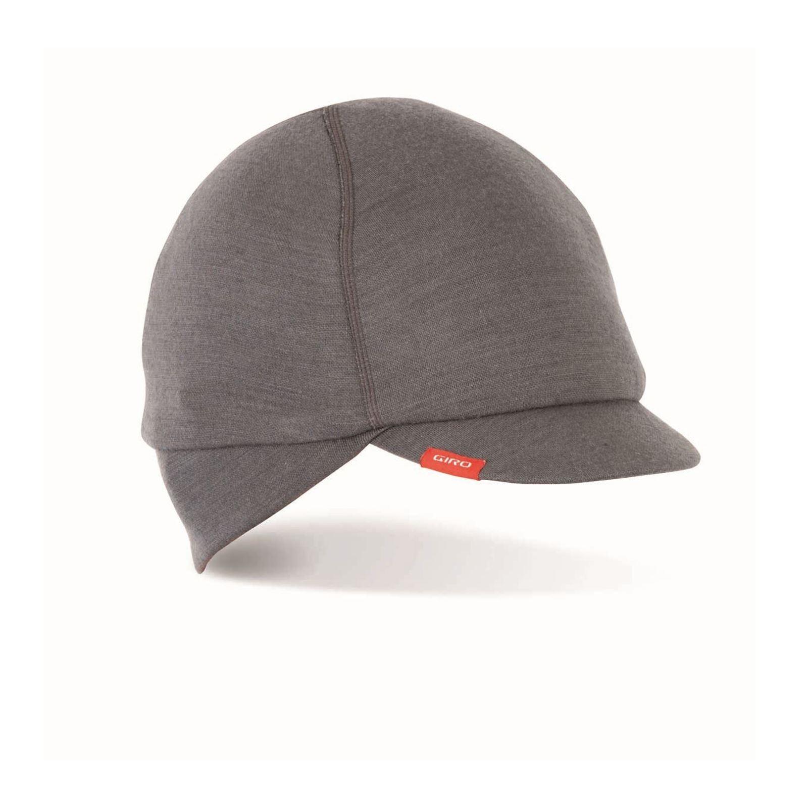 e287fc593 Details about Cycling Cap Ear Flaps Giro Merino Wool Under Helmet Charcoal  S-M 51-57Cm