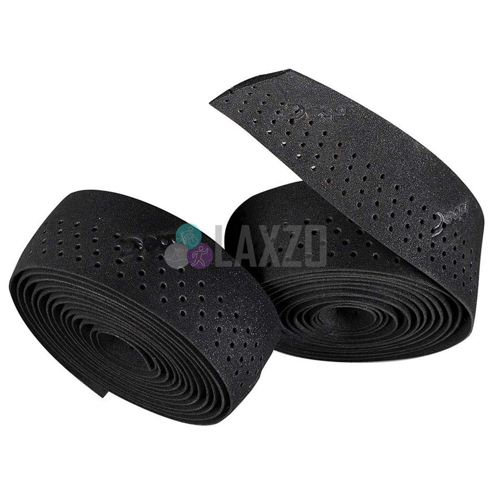 Traforato Black Perforated Handlebar Bar Tape Deda Padded