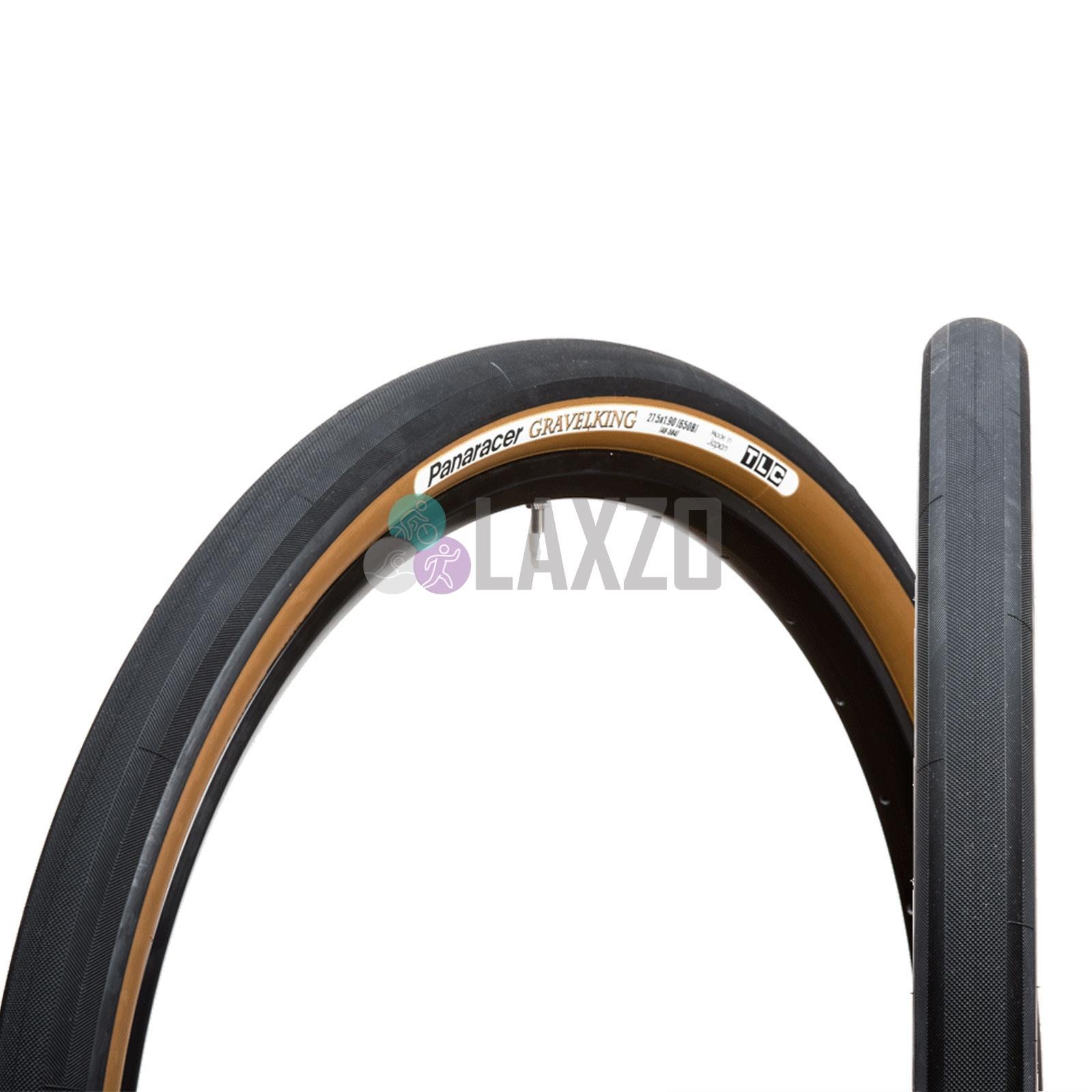 2-PACK Panaracer Gravel King SLICK 700x 35 TLC Black//Brown Tubeless Bike Tire