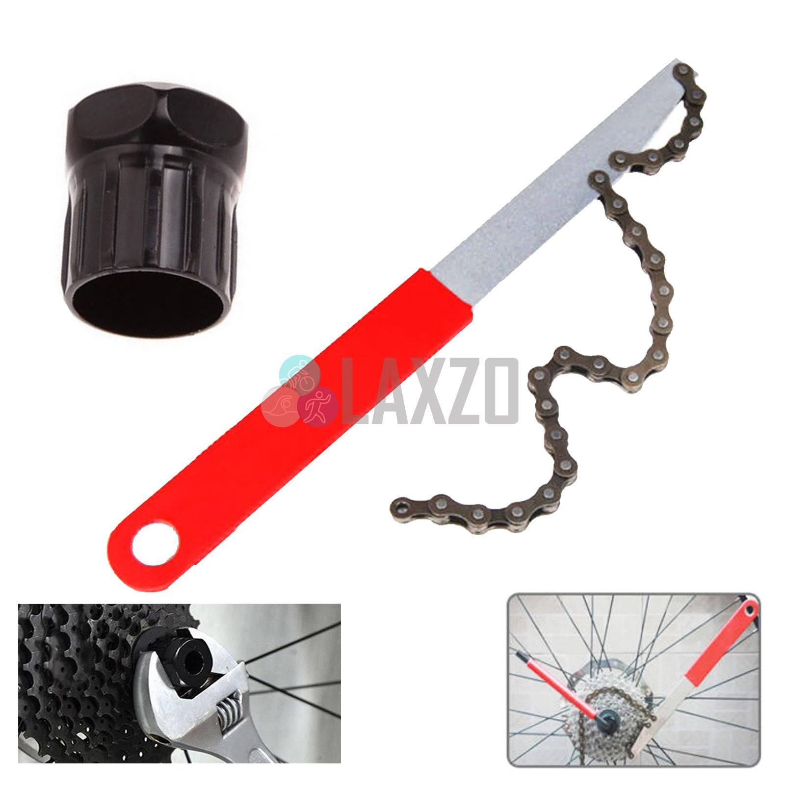 Bicycle Bikes Freewheel Chain Whip Cog Cassette Sprocket Remover Breaker Tool UK