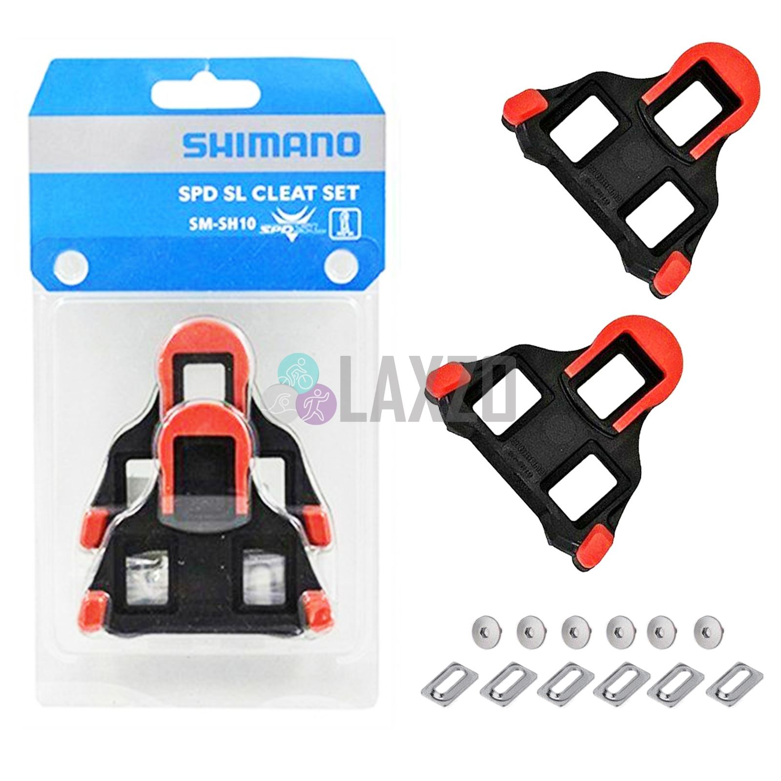 1dacc5ff2 Details about Shimano SM-SH10 SPD-SL Fixed Road Bike Red Pedal Cleats