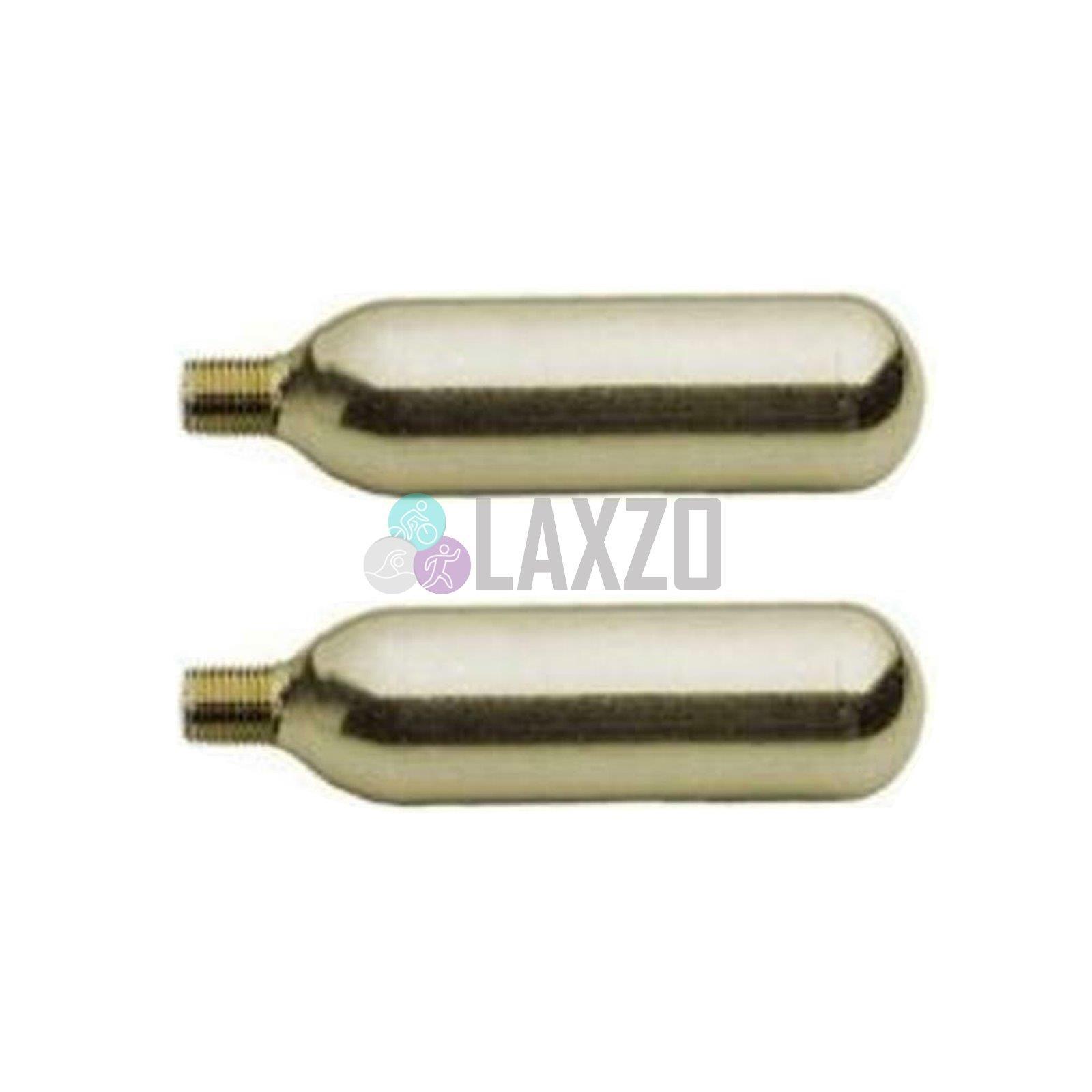 Détails sur 2 X CO2 vélo cycle pompe pneumatique Cartouche Gonfleur Gas Fileté Cartouche (16 g) afficher le titre d'origine