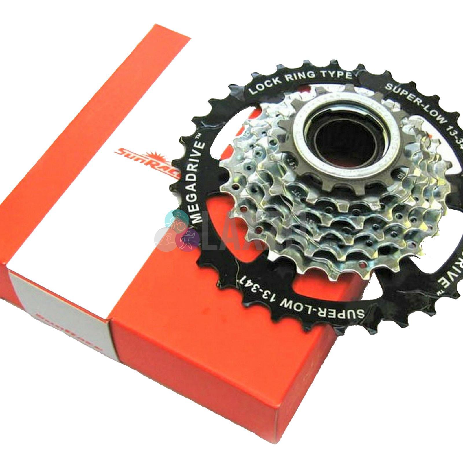 Sunrace MTB Bike 8 Speed Screw On Freewheel 13-34T UPC Compatible Shimano