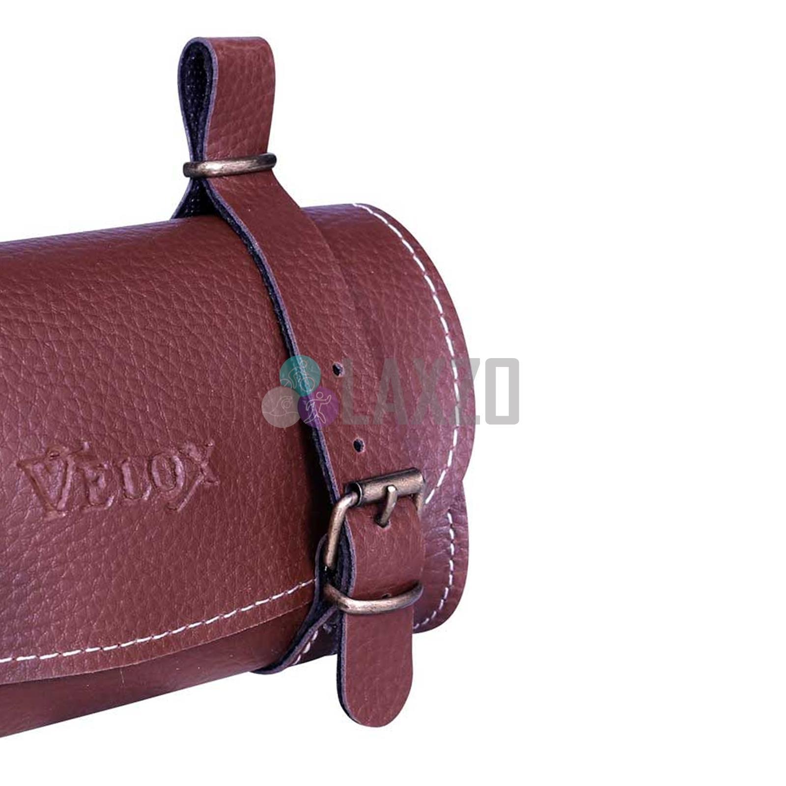 Black Velox Saddle Bag Classic Faux Leather 17cm X 10cm X 5cm Bags Panniers Sporting Goods