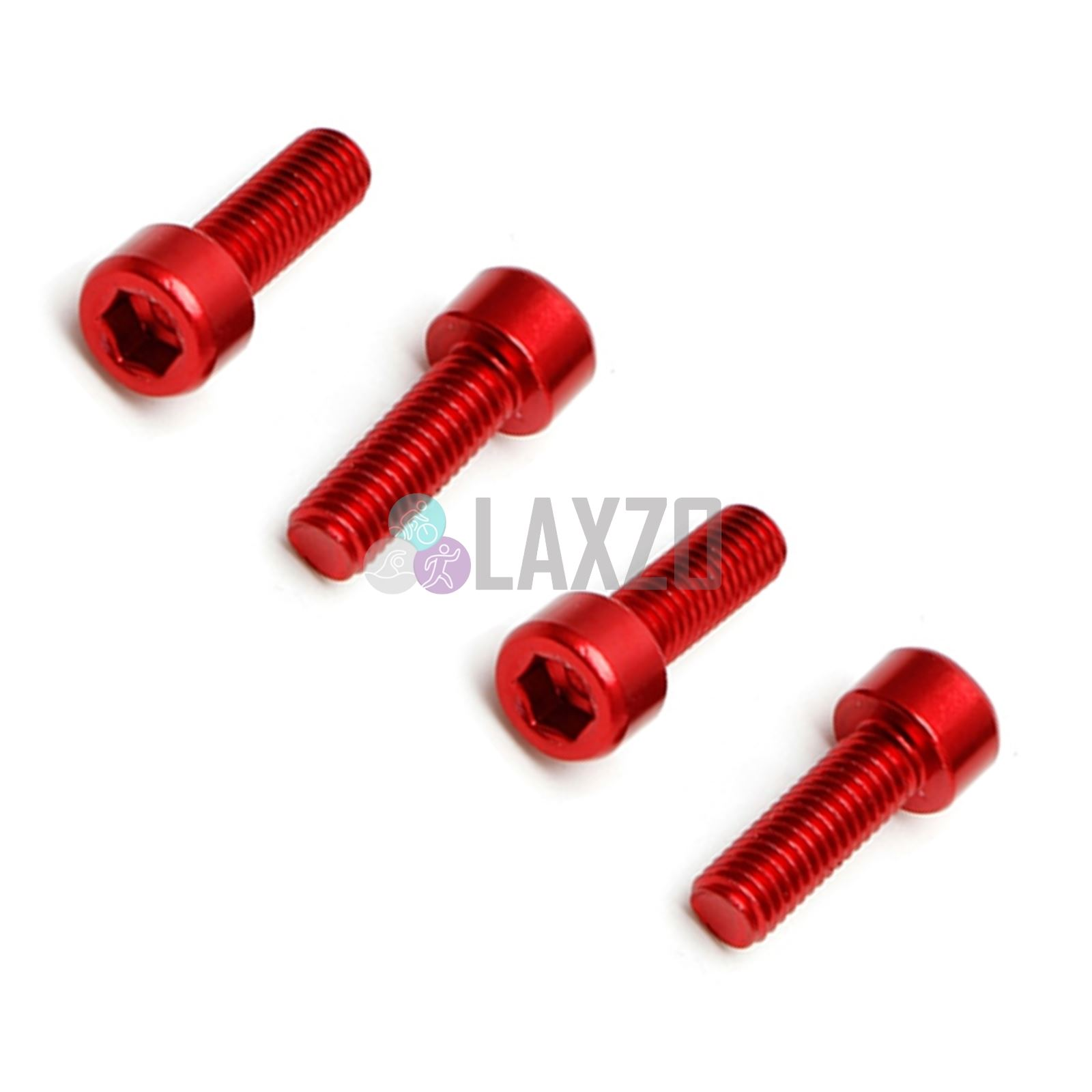 Red 4 PCS Super light Strong,CNC 7075 T6 anodized alloy Bottle Cage Bolts,M5X15