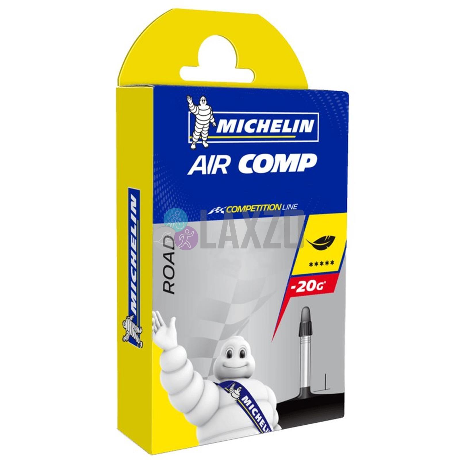 Three Michelin AirComp Ultra-Light 700x18//23 Presta 52mm Road Bicycle Tubes 3