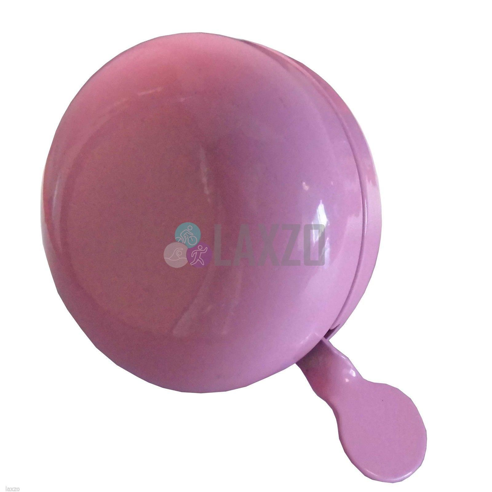 Traditional Large Loud Retro Round Dutch Bicycle Ding Dong Bell Pink