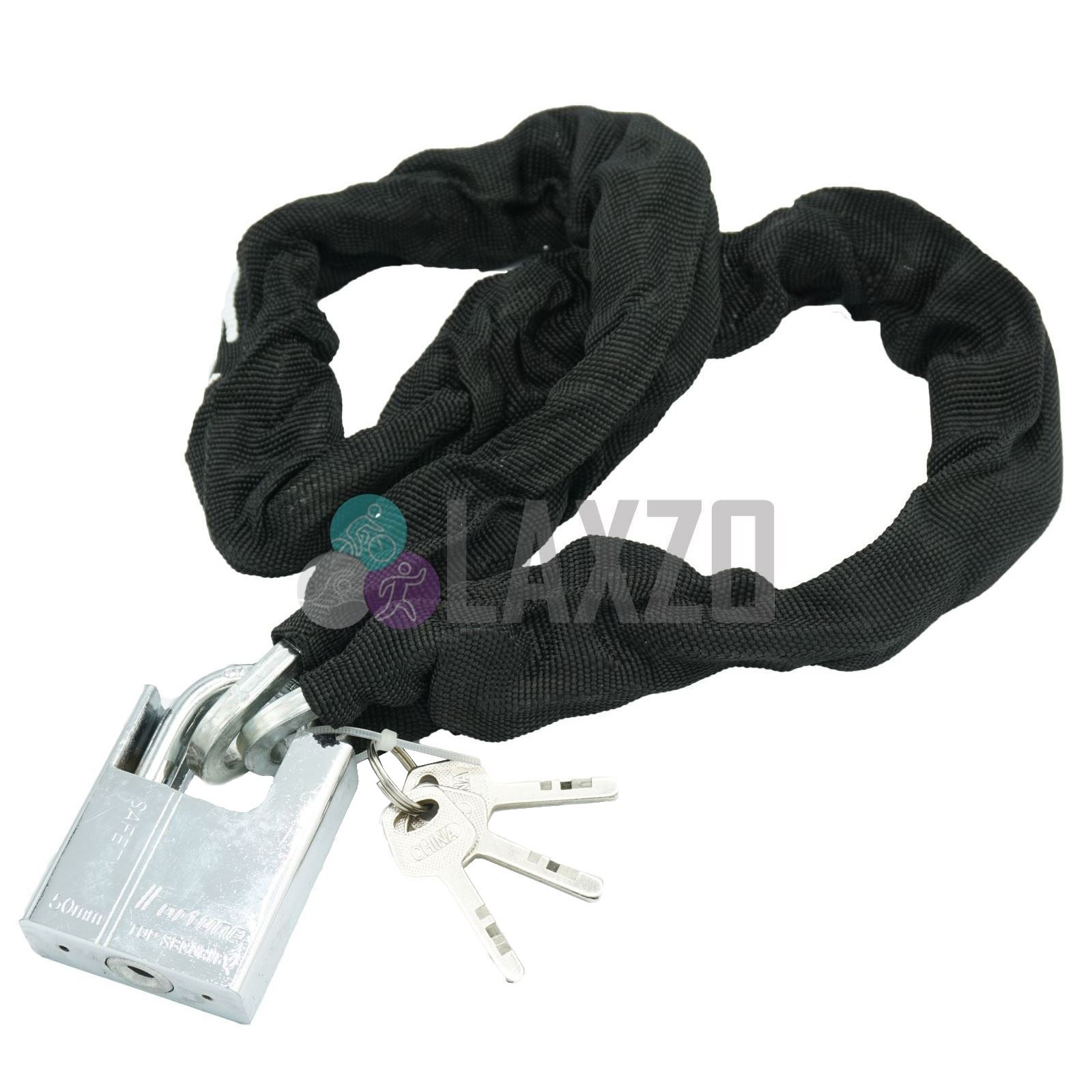 Heavy Duty Motorcycle Scooter Bike Cycle Motor Bicycle Chain Padlock with Keys