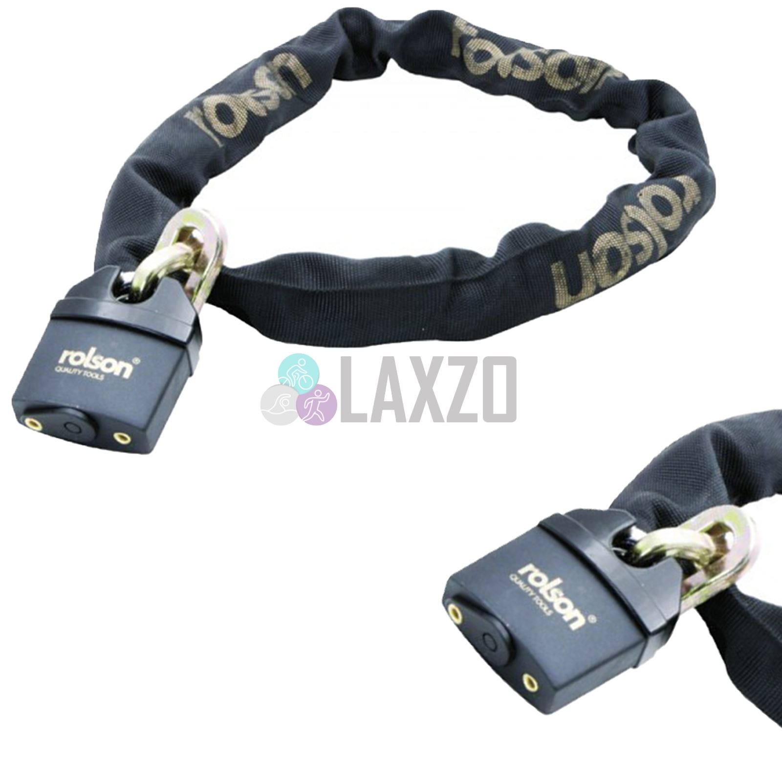 HEAVY DUTY MOTORBIKE BICYCLE CHAIN PAD LOCK MOTORCYCLE SCOOTER BIKE 1200MM NEW