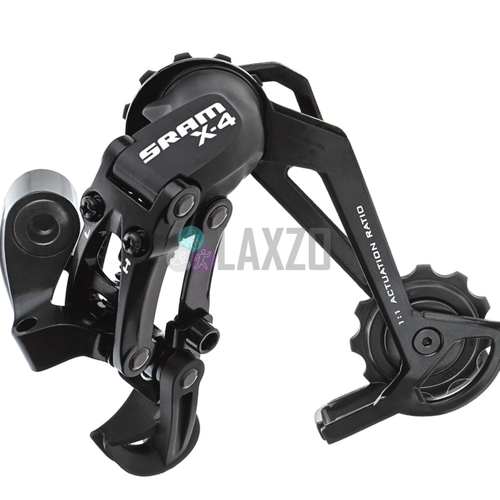 Long Cage Black Sram RD X4 Mountain Rear Derailleur 7-8-9 Speed Medium Cage