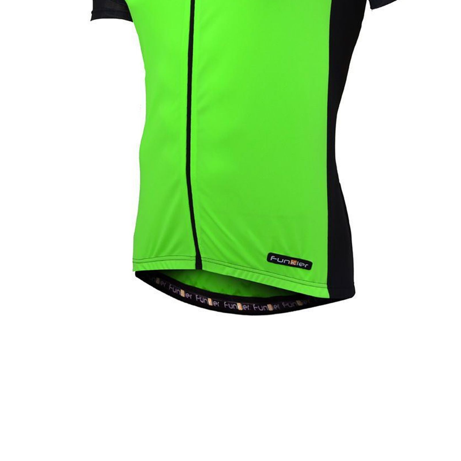 Funkier J-730-1 Gents Active Short Sleeve Bike Cycling Jersey in Yellow//Black