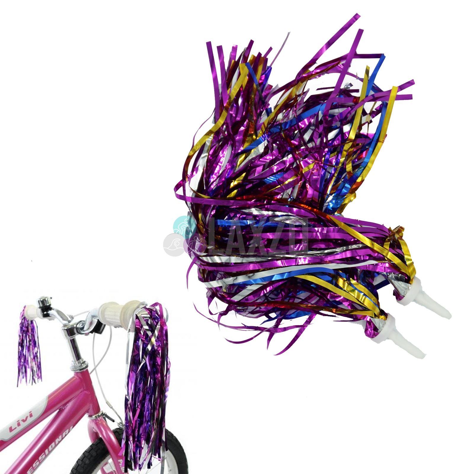 Kids Bike Bicycle Grip Streamers Purple