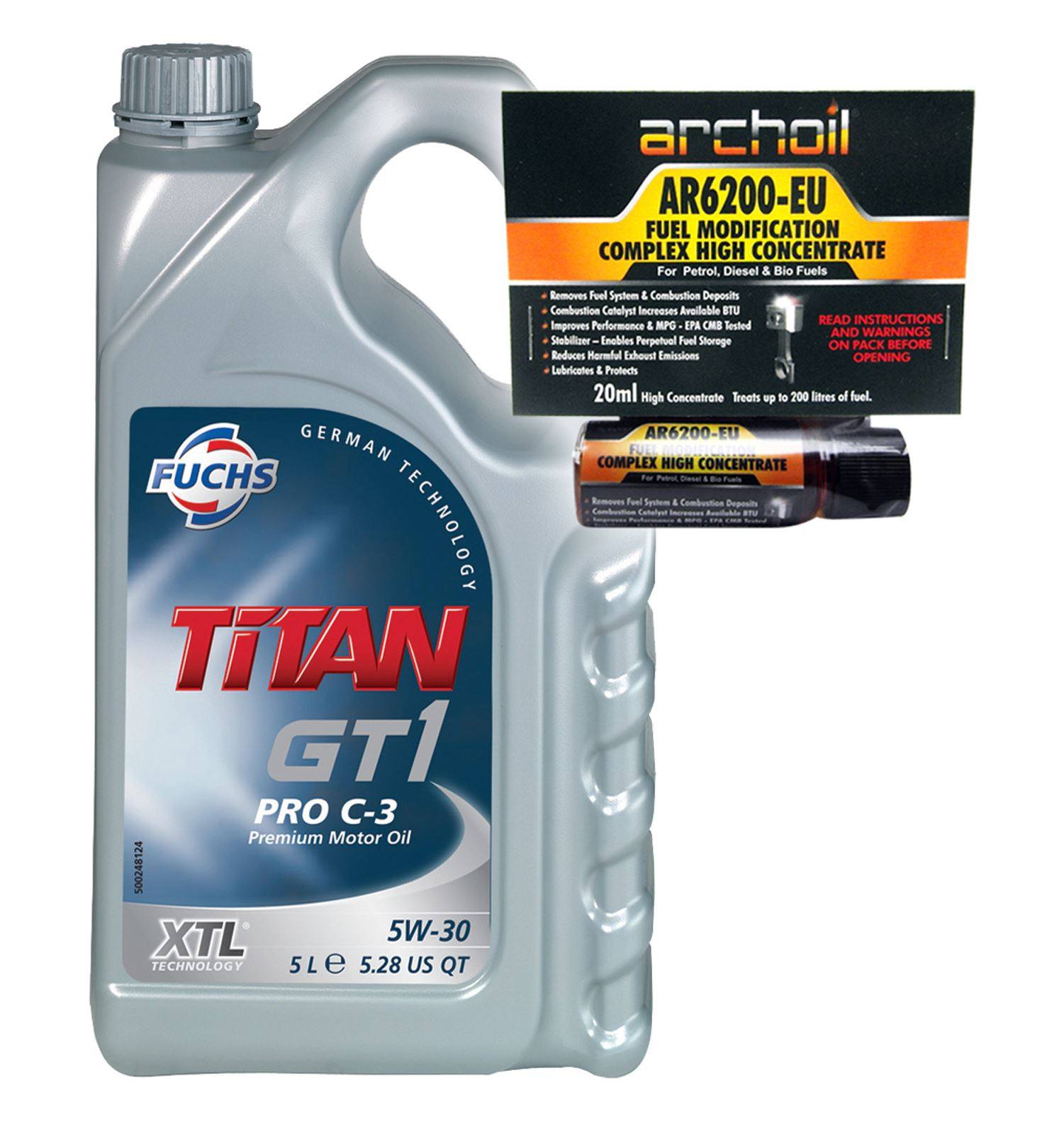 fuchs titan gt1 pro c 3 5w30 engine oil 5 litre vw 504. Black Bedroom Furniture Sets. Home Design Ideas