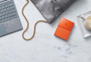WD 2TB My Passport Portable Hard Drive USB 3.0 Model WDBS4B0020BOR-WESN Orange