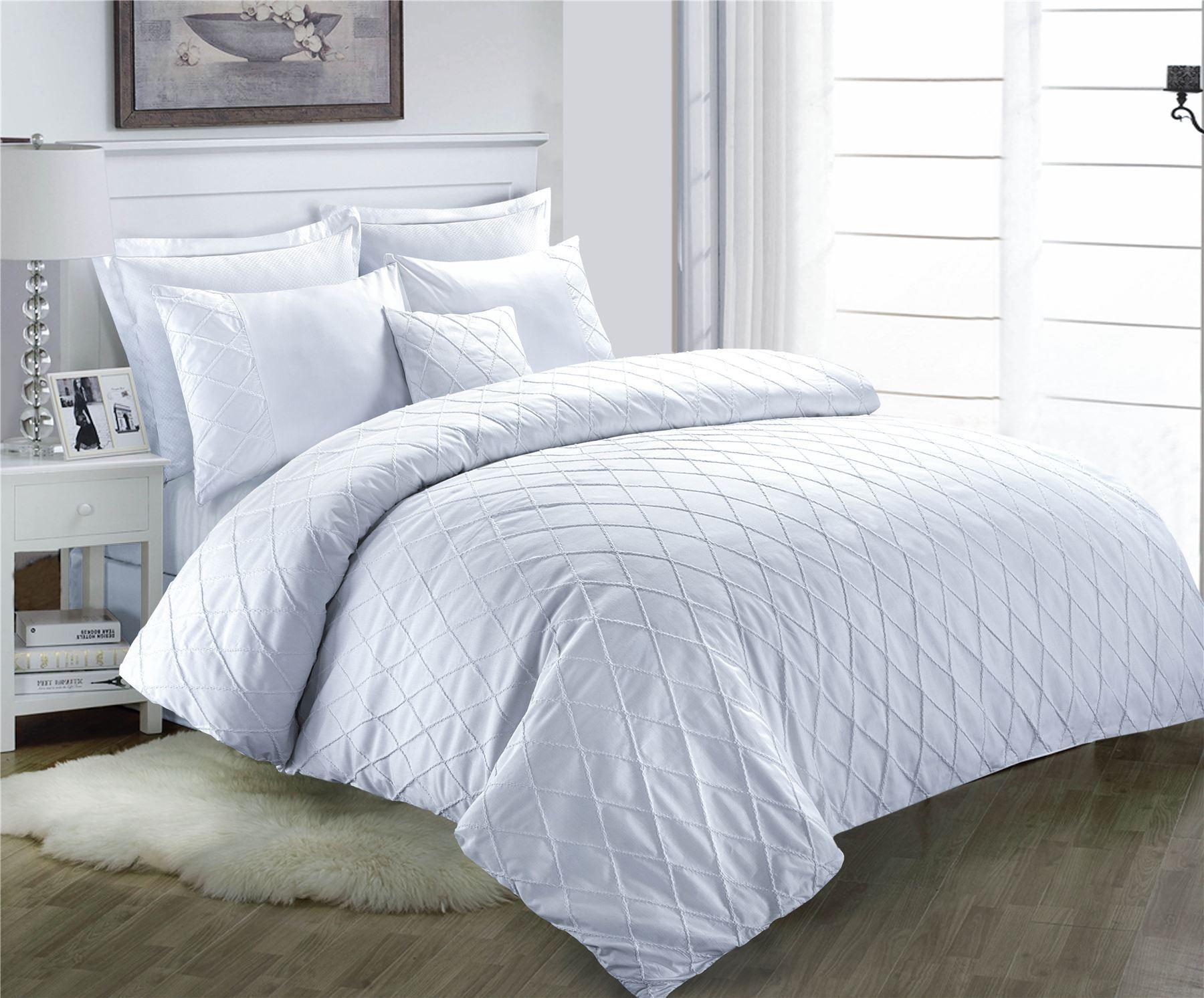 Decent JACOB Duvet Cover with Pillow Cases~POLYCOTTON Linen Bedding~UK SIZES NEW