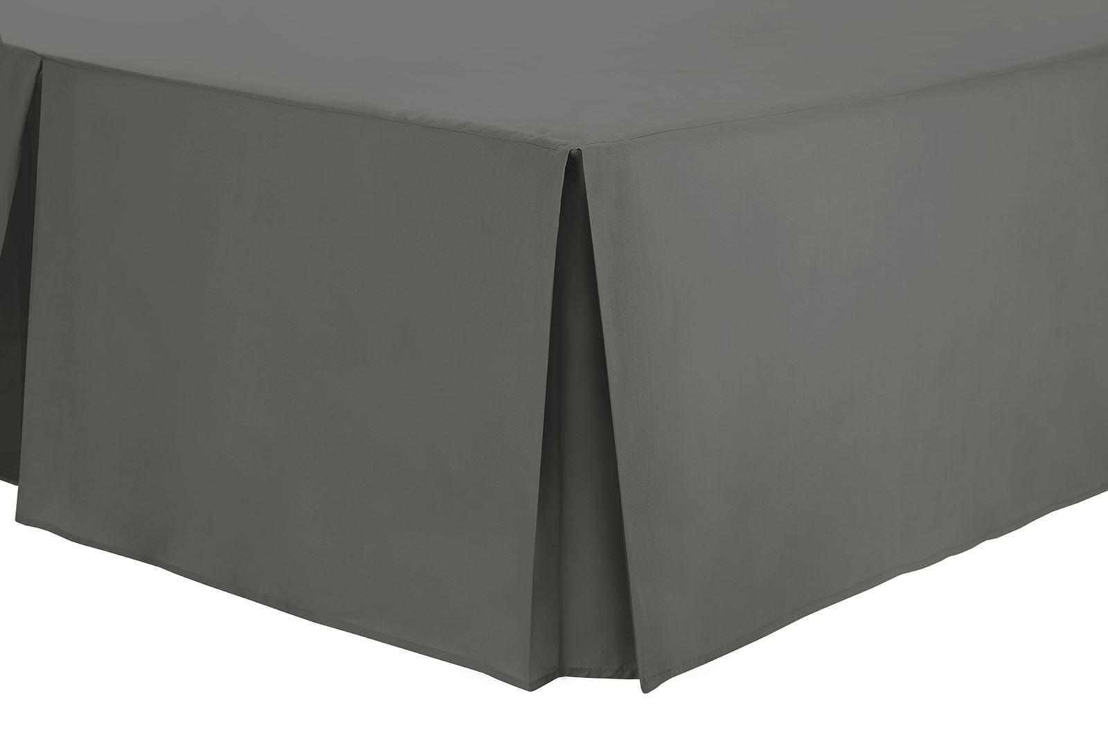 16inch 40cm Skirt Plain Coloured Box Pleated Bed Platform