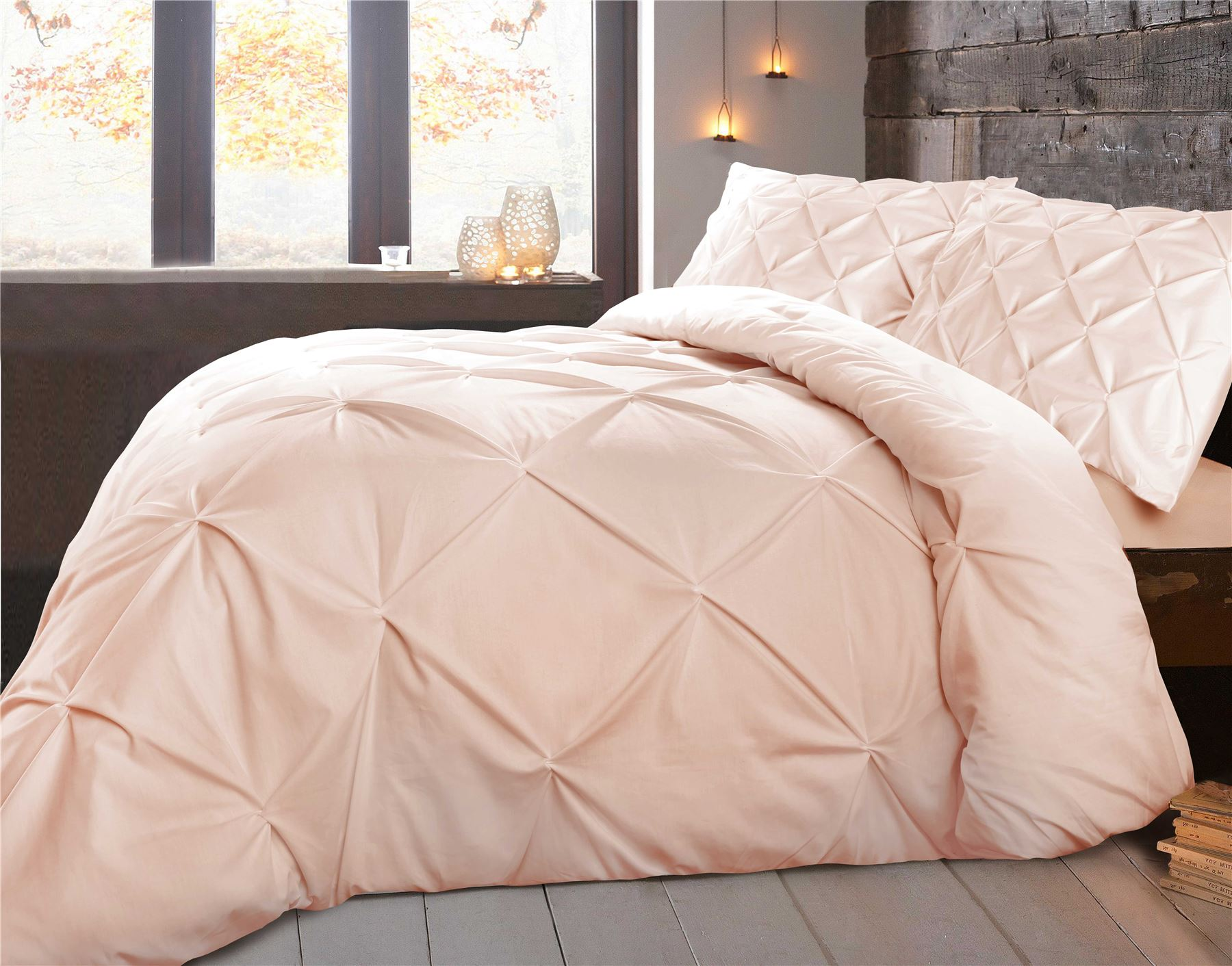 pinch truly pleated free pleat shipping set bedding today product aaff solid soft overstock comforter bath piece duvet cover