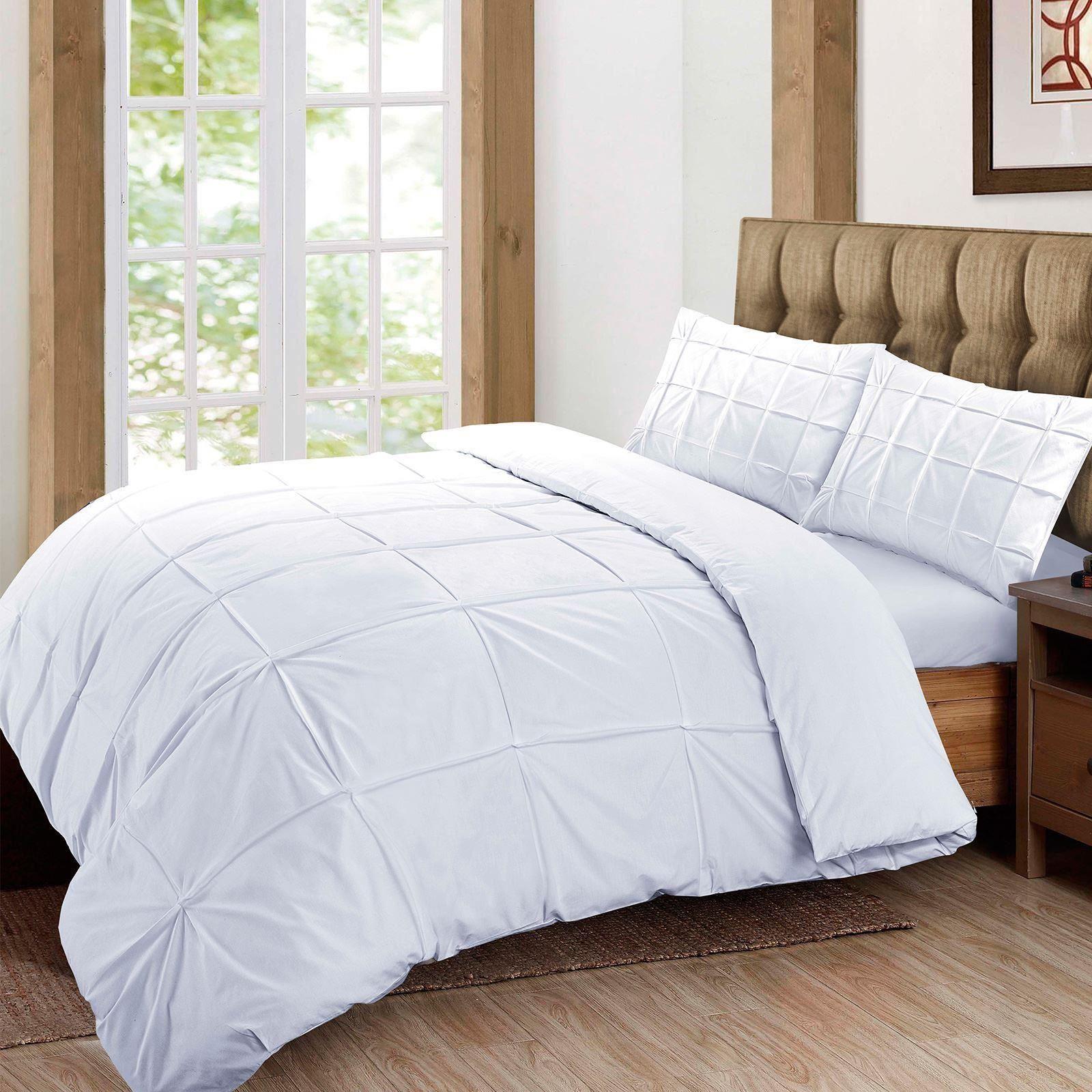 100-Coton-Egyptien-de-couette-couette-Set-Simple-Double-King-Size-Bed-sheets miniature 12
