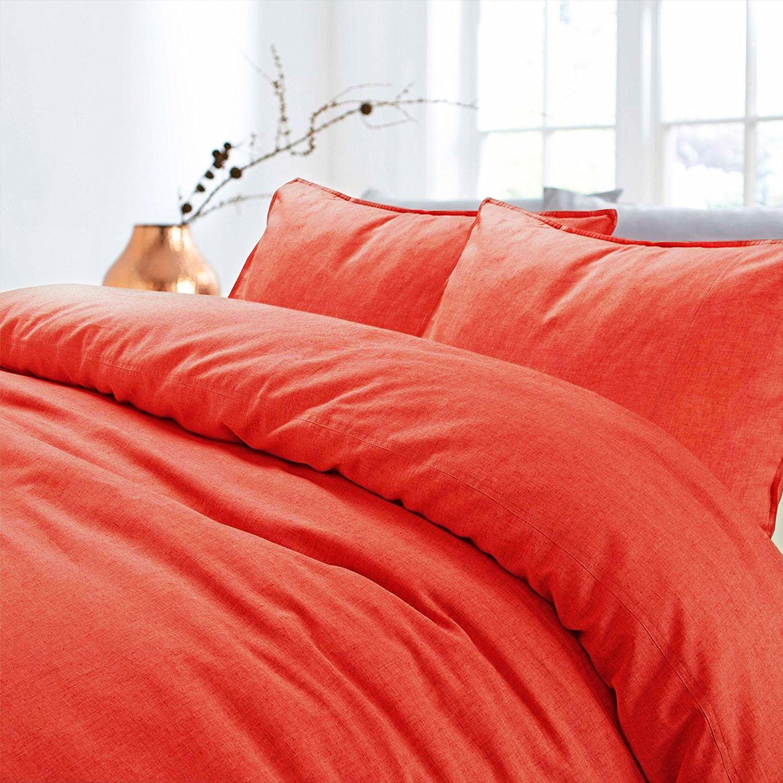 Nimsay-Home-De-Lujo-100-Algodon-Lino-Cubierta-del-edredon-edredon-natural-del-lecho-del miniatura 34