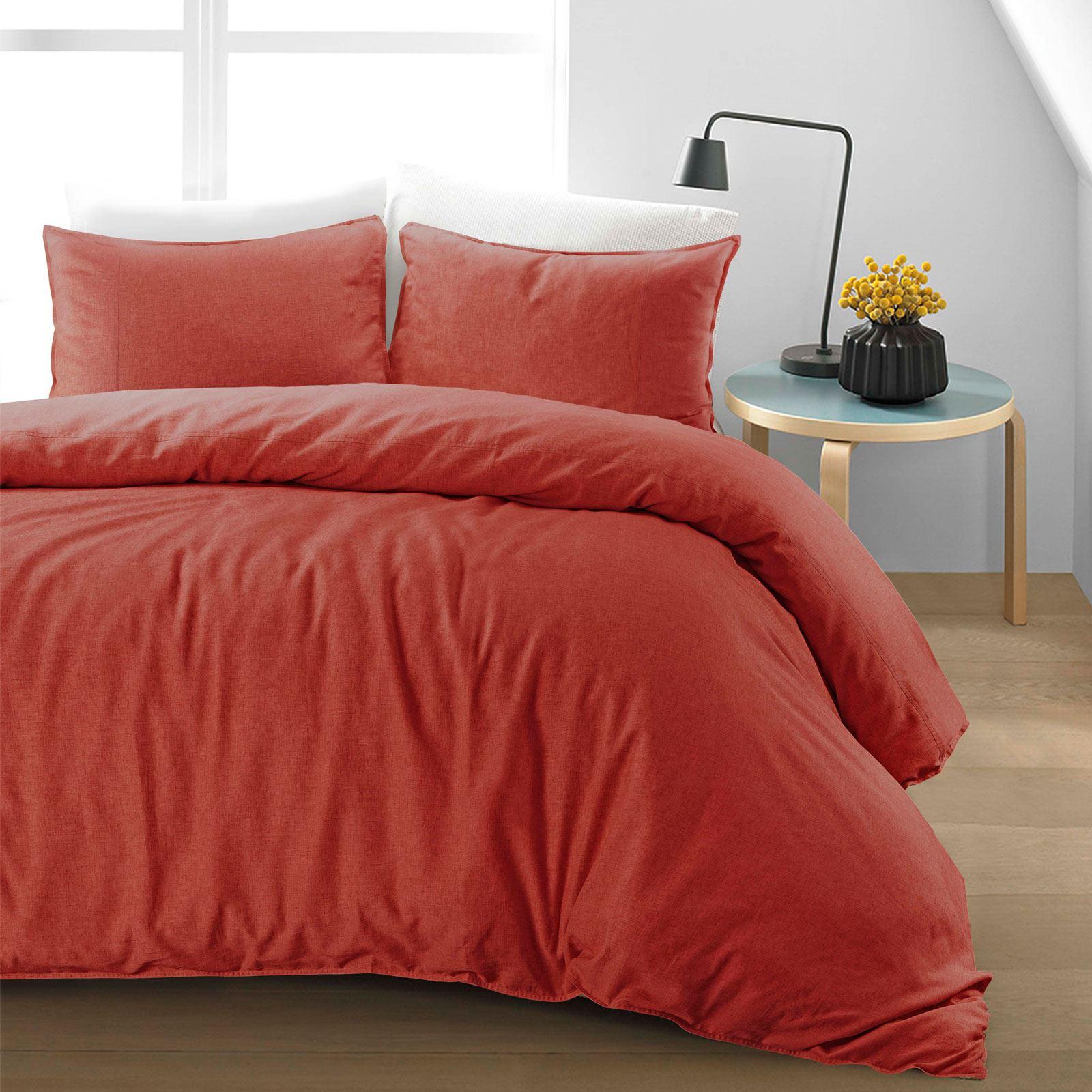 100-Cotton-Linen-Pure-Natural-Duvet-Cover-Bedding-Set-Double-King-Single thumbnail 29