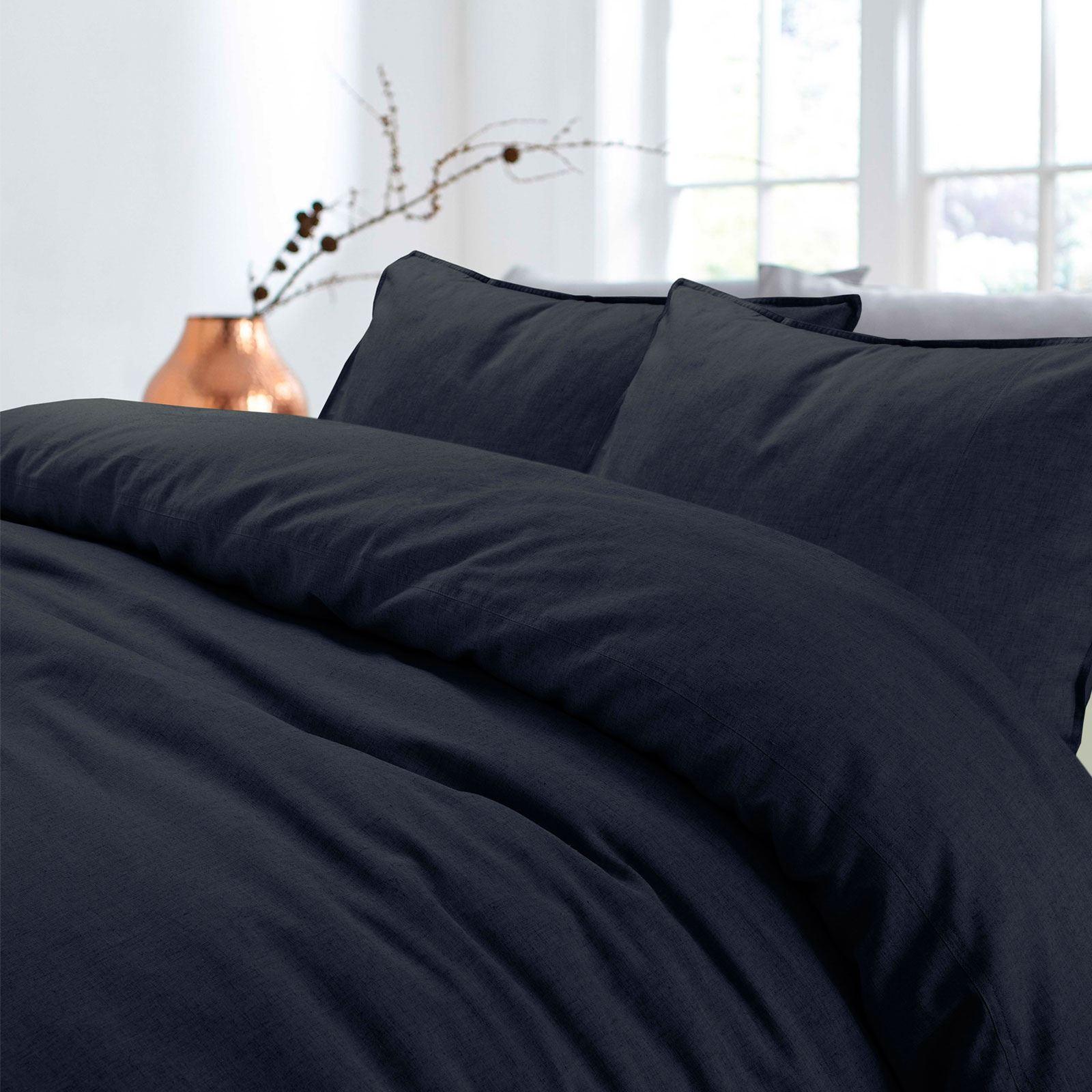 100-Cotton-Linen-Pure-Natural-Duvet-Cover-Bedding-Set-Double-King-Single thumbnail 24