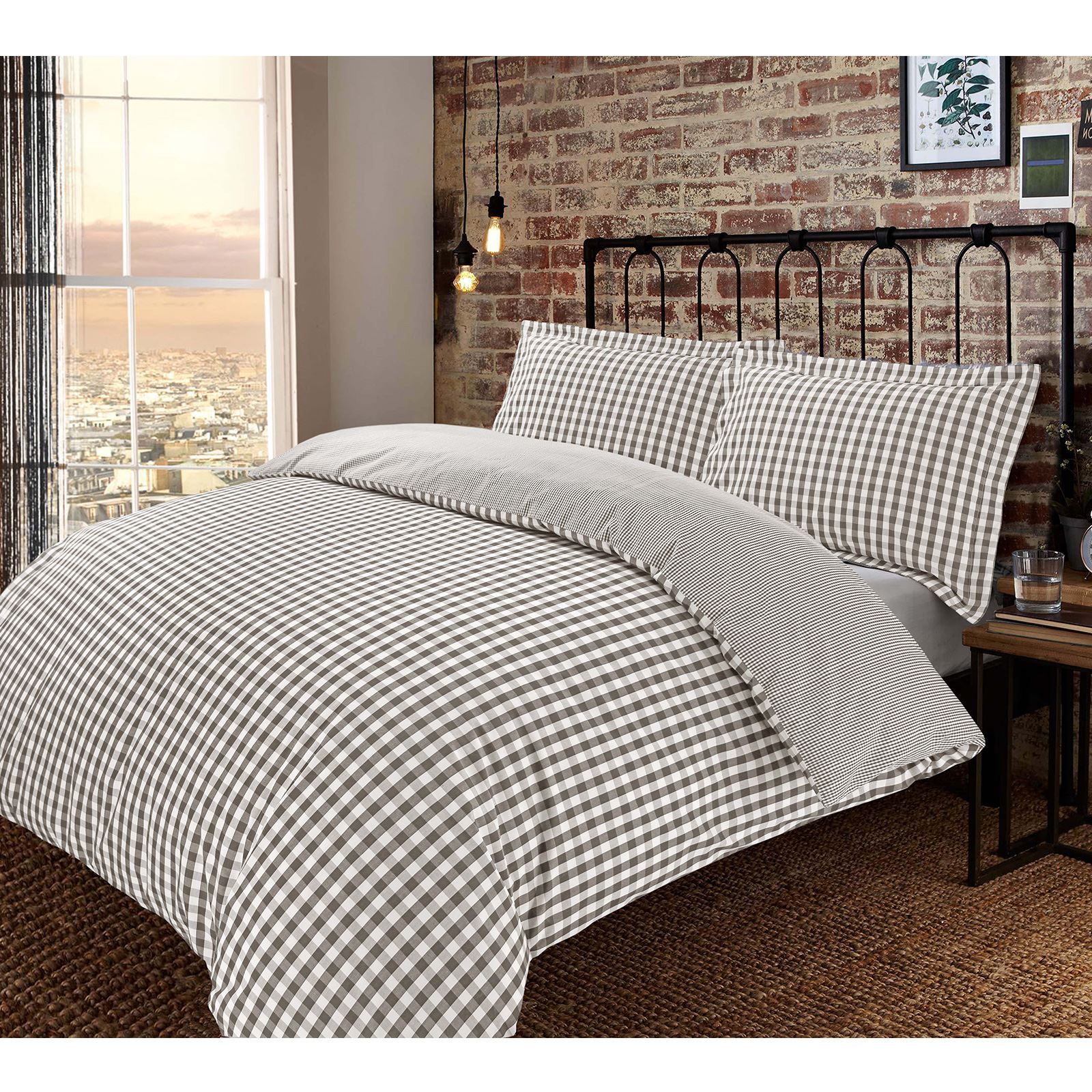 you product and cover gingham in duvet linen img natural white