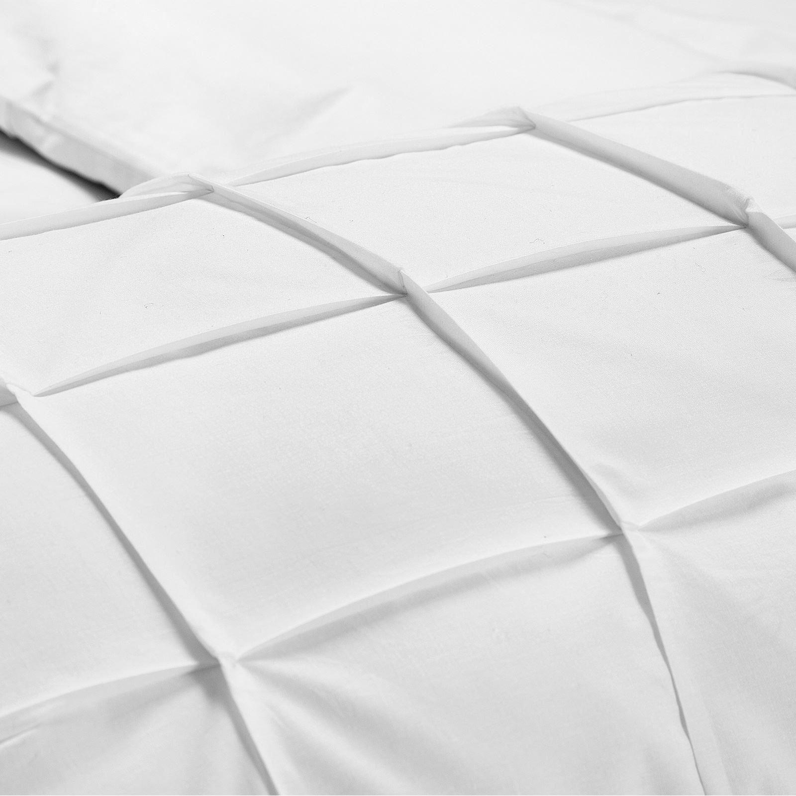 Cartier-Quilt-Duvet-Cover-Bedding-Set-Soft-100-Egyptian-Cotton-Pintuck-Pleated thumbnail 16