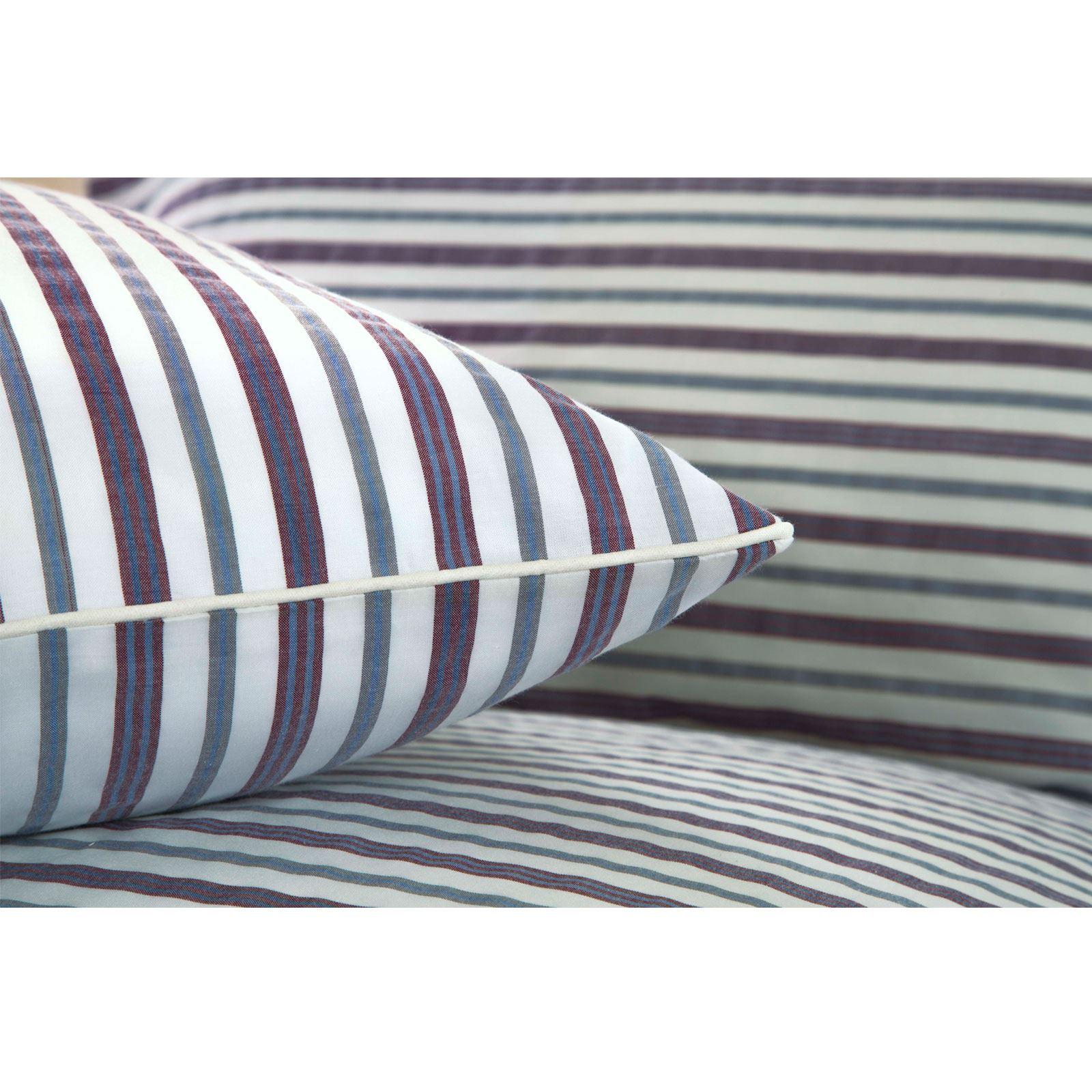 De-Lujo-Suave-Algodon-Rico-Tejido-Stripe-Multi-Funda-Nordica-Edredon-De-Rayas-Juego-De-Cama miniatura 21