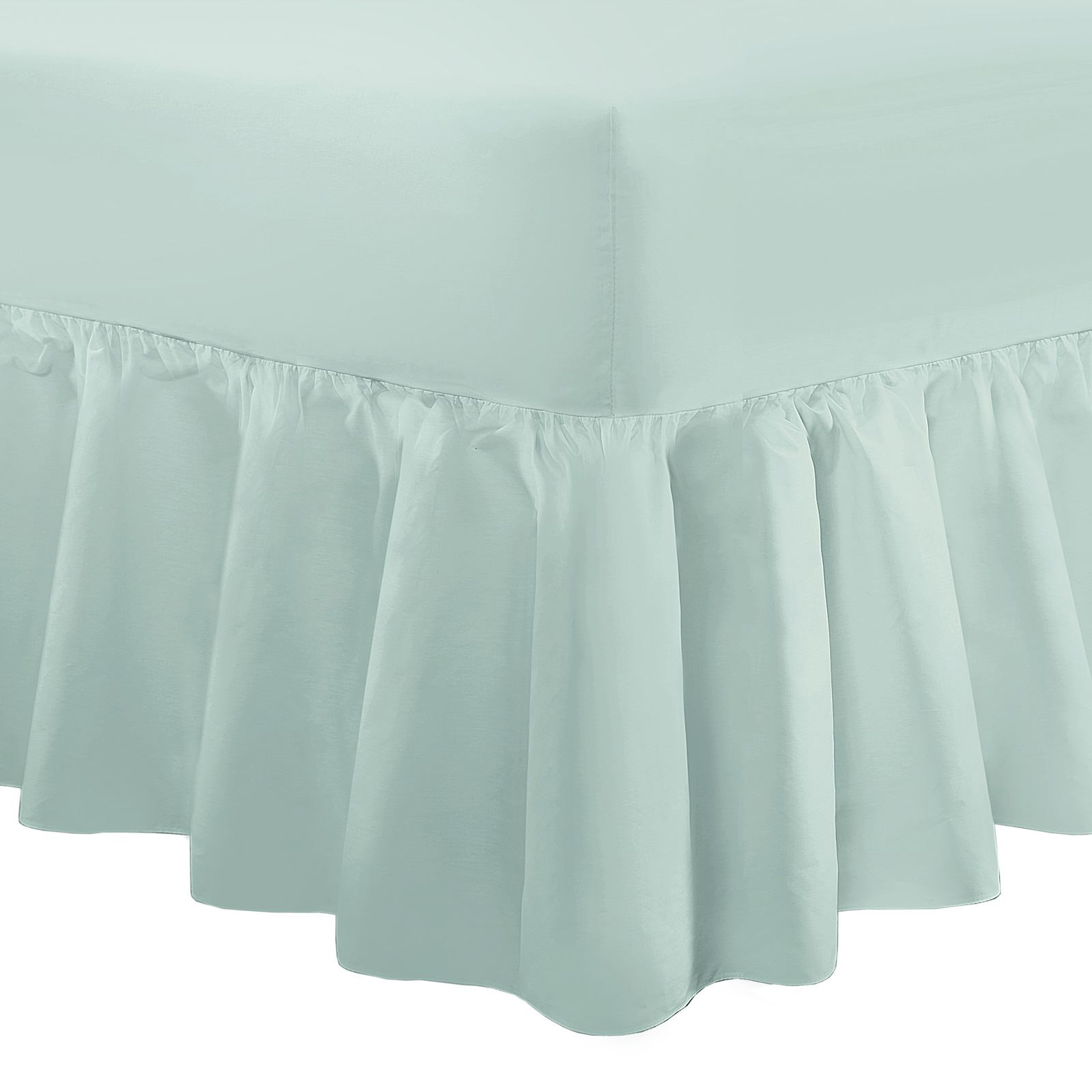 100 Egyptian Cotton Fitted Flat Frilled Valance Sheet