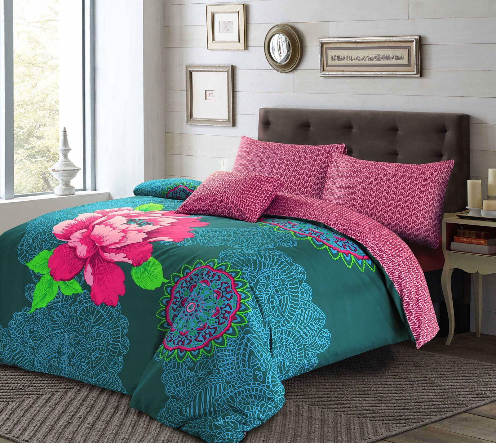 turquoise boho sets lush bedding style decor chic full navy ease bohemian piece with set quilt queen more