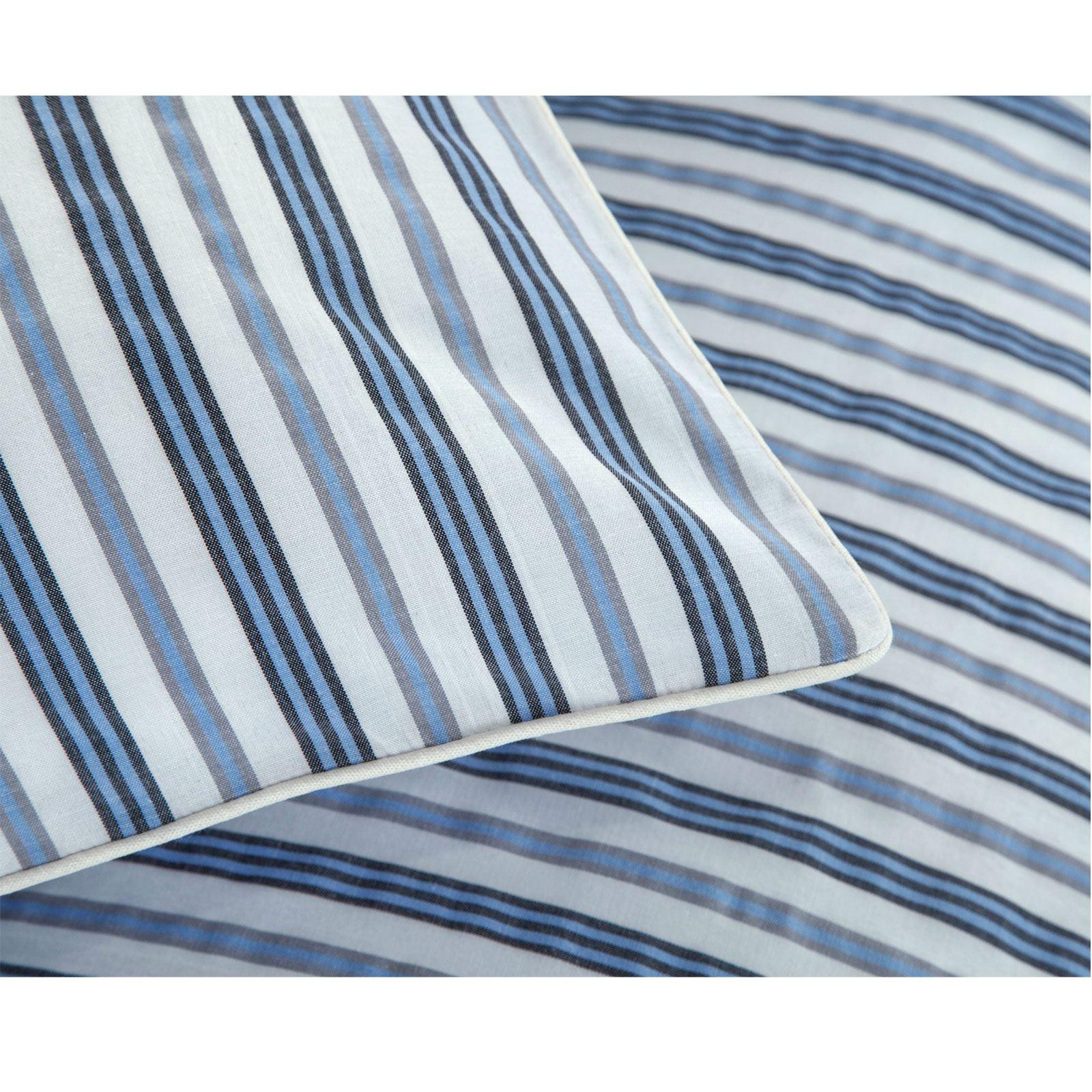 De-Lujo-Suave-Algodon-Rico-Tejido-Stripe-Multi-Funda-Nordica-Edredon-De-Rayas-Juego-De-Cama miniatura 17