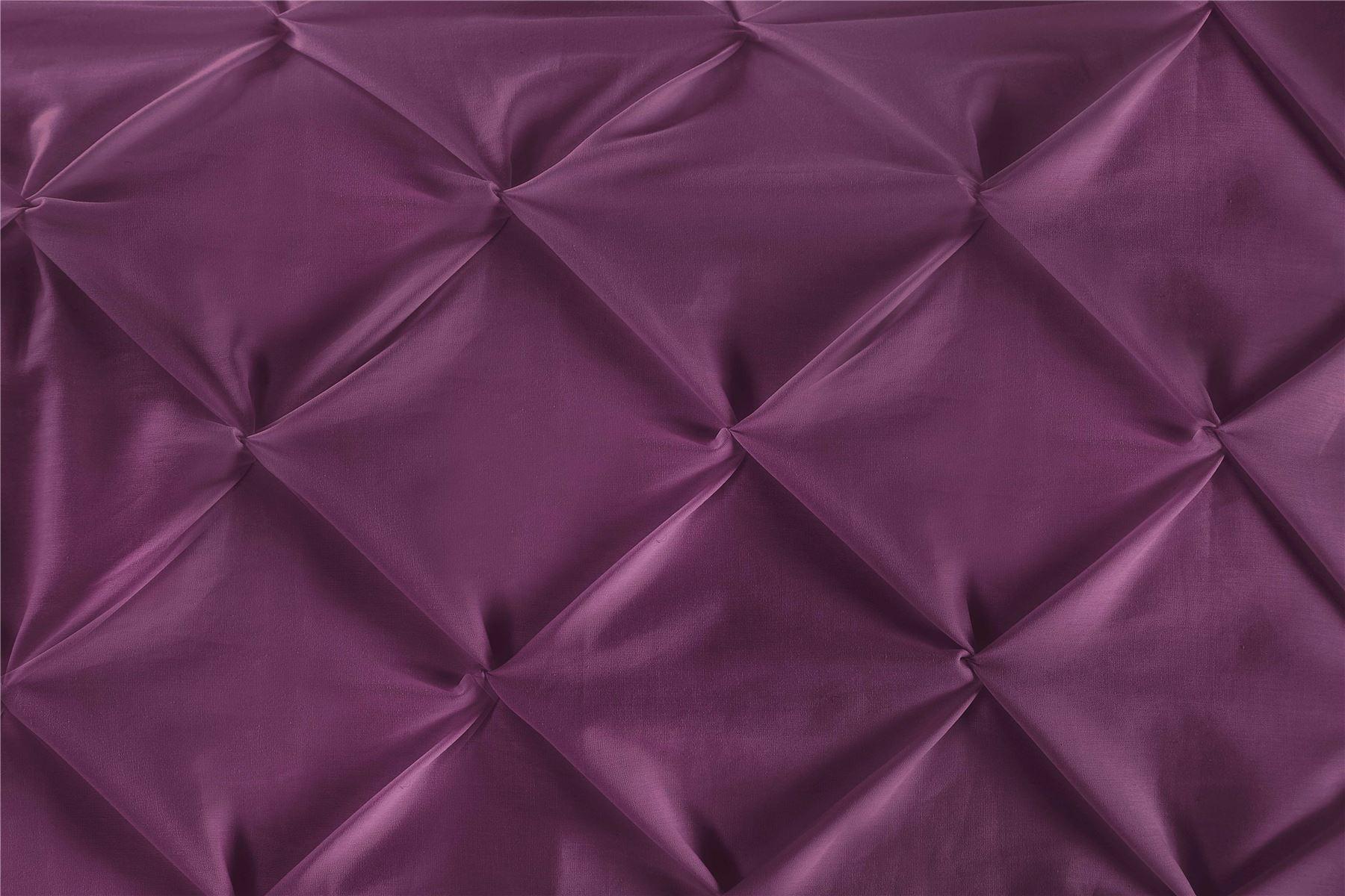 Luxury-Pure-100-Cotton-200-Thread-Pinch-Pleat-Pintuck-Puckering-Duvet-Cover-Set thumbnail 31